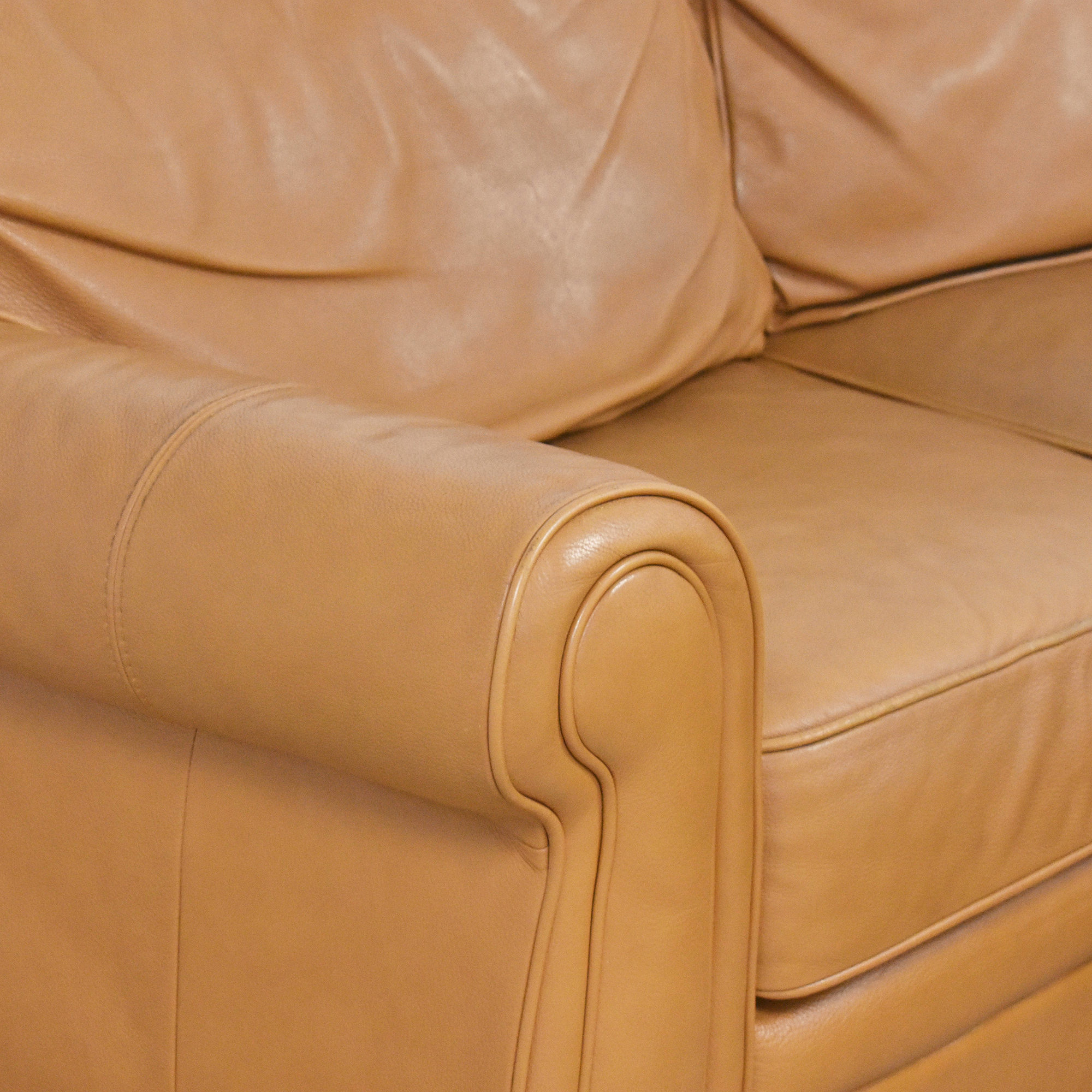 Two Piece Sectional Sofa with Ottoman ct