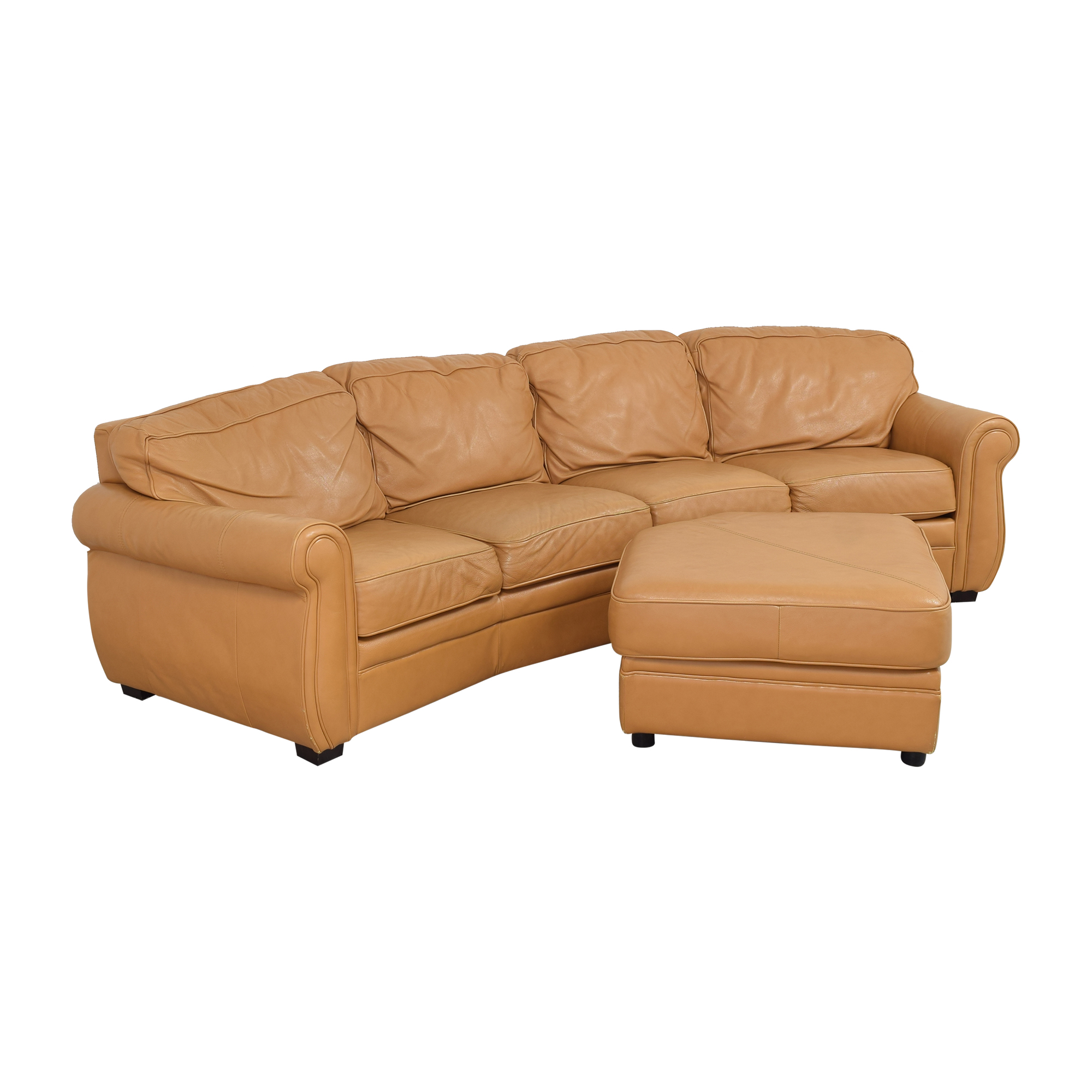 Two Piece Sectional Sofa with Ottoman for sale