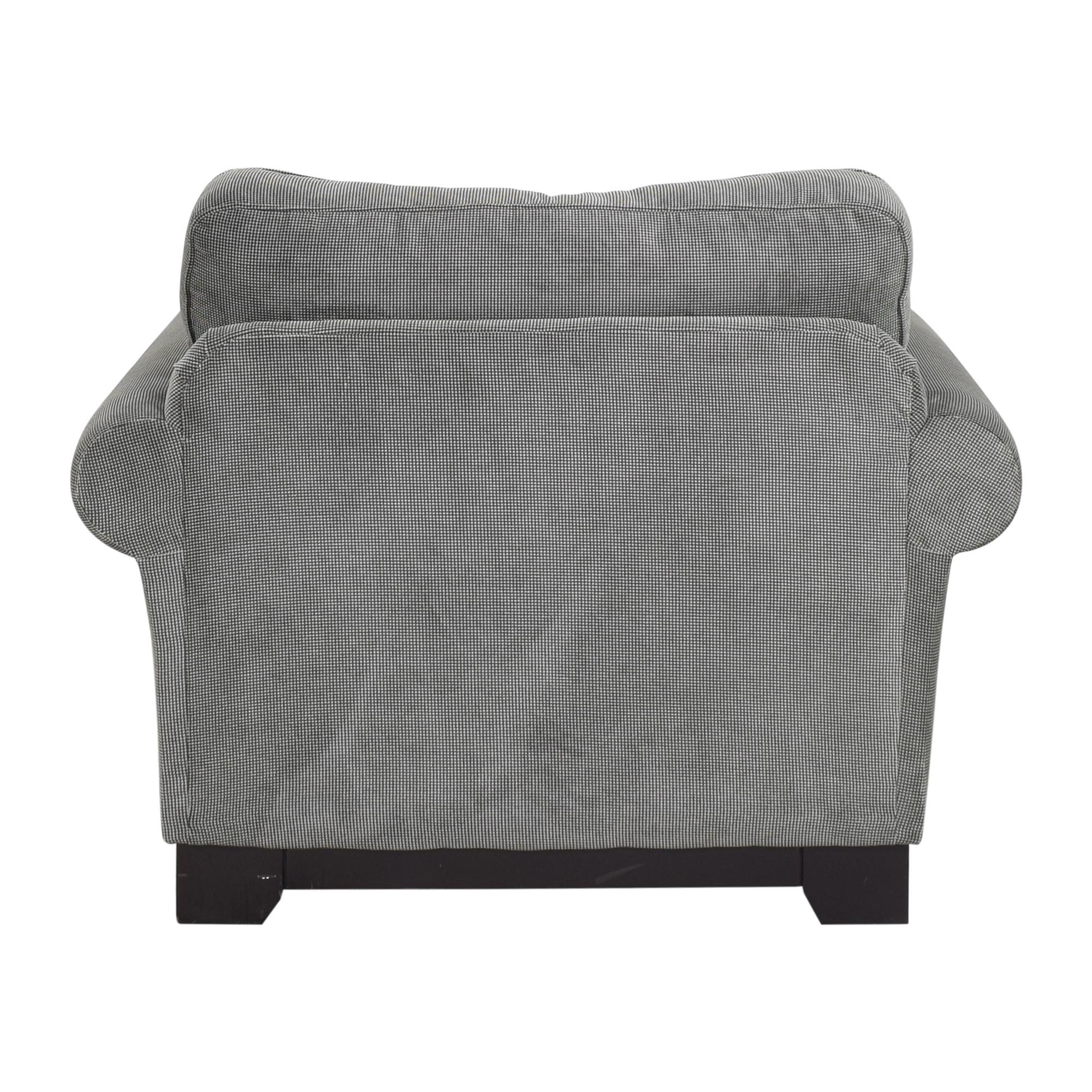Macy's Macy's Medland Armchair with Ottoman gray