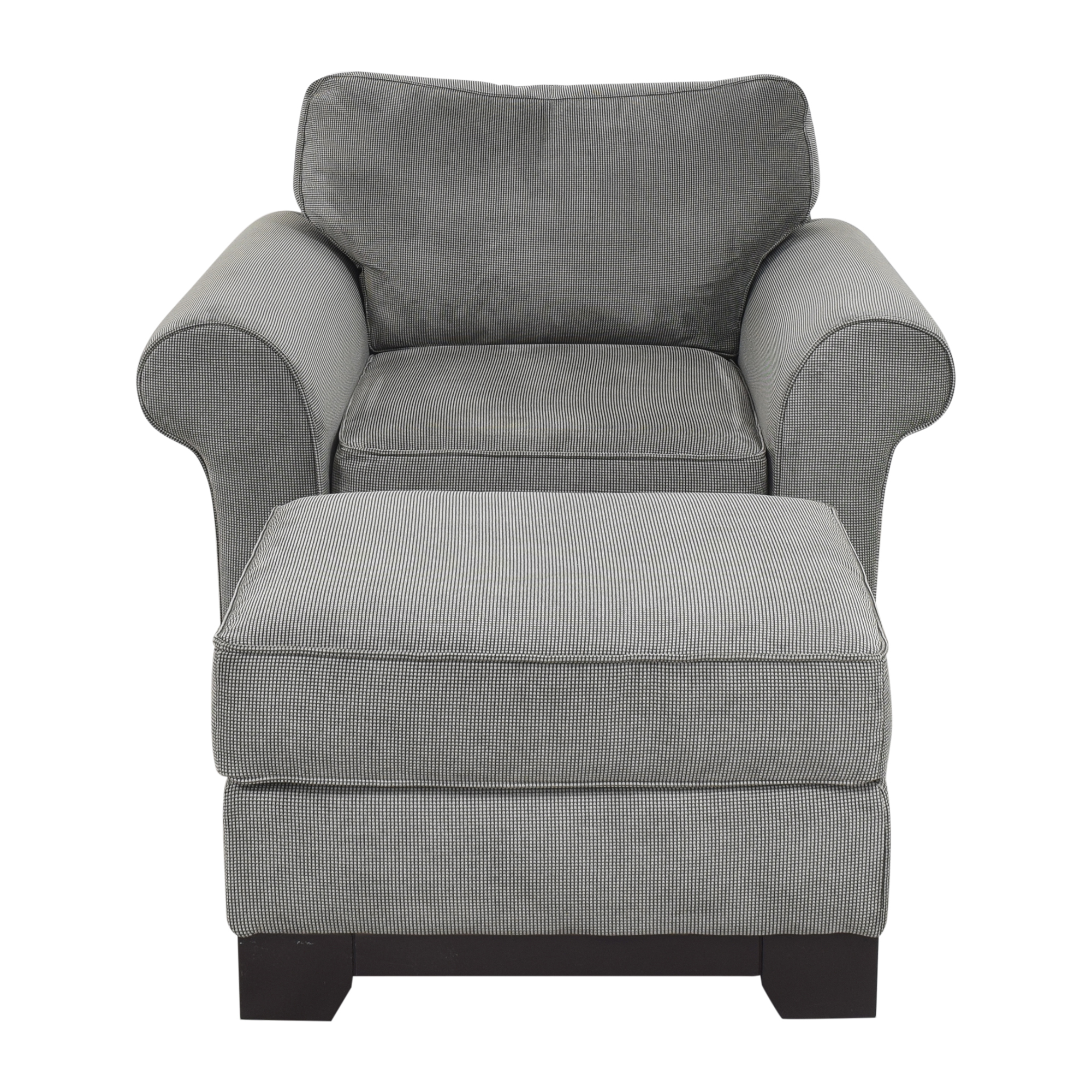 Macy's Macy's Medland Armchair with Ottoman Accent Chairs