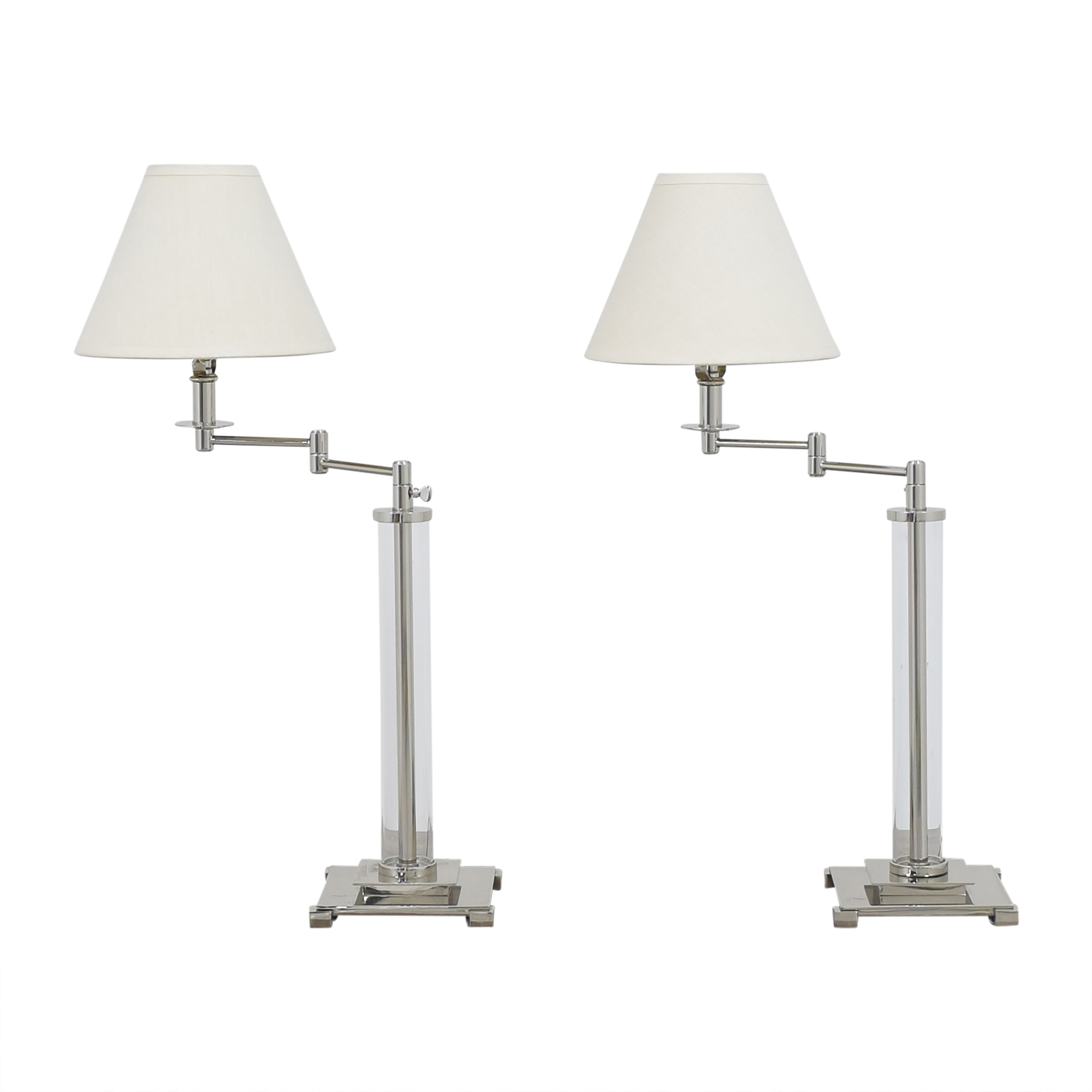 Restoration Hardware Restoration Hardware French Column Swing Arm Table Lamps coupon