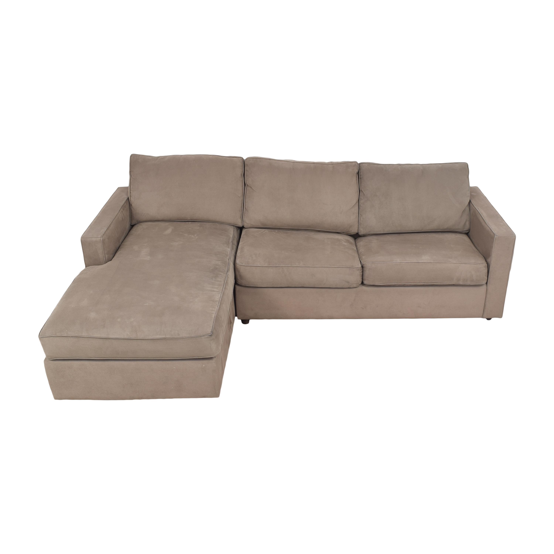 Room & Board Room & Board York Sleeper Sofa with Chaise brown