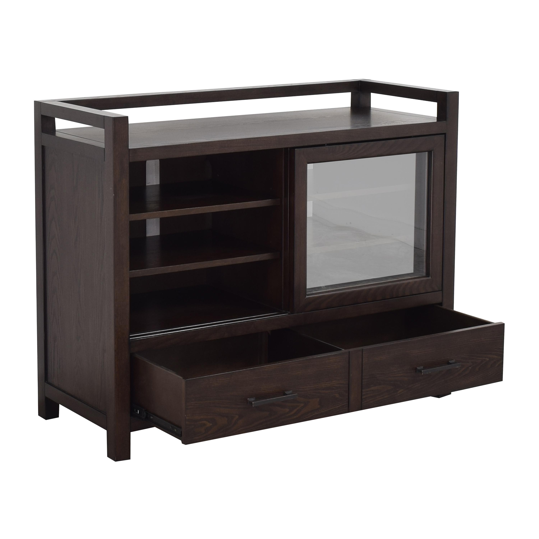 shop Crate & Barrel Sliding Door Media Console Crate & Barrel Cabinets & Sideboards