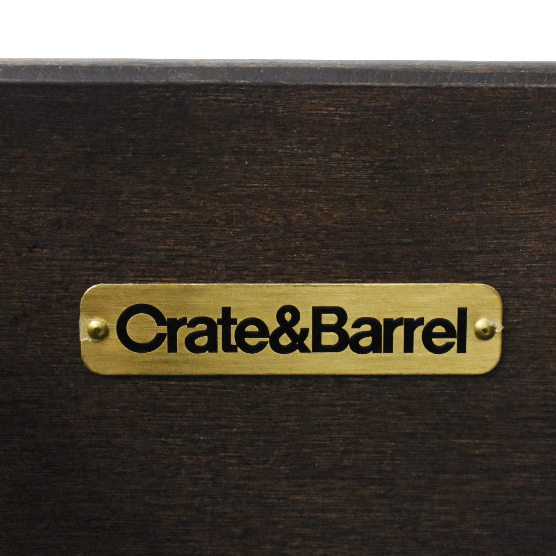 Crate & Barrel Sliding Door Media Console Crate & Barrel