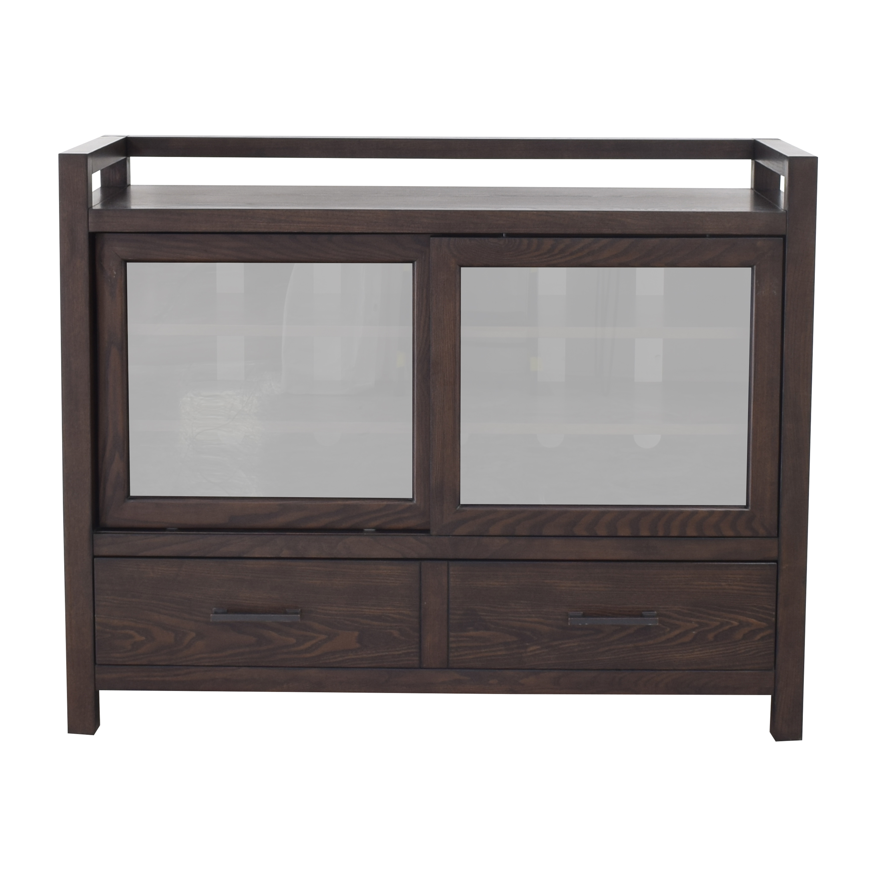 shop Crate & Barrel Sliding Door Media Console Crate & Barrel Storage