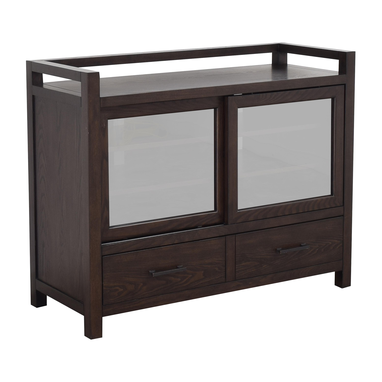 Crate & Barrel Crate & Barrel Sliding Door Media Console Cabinets & Sideboards