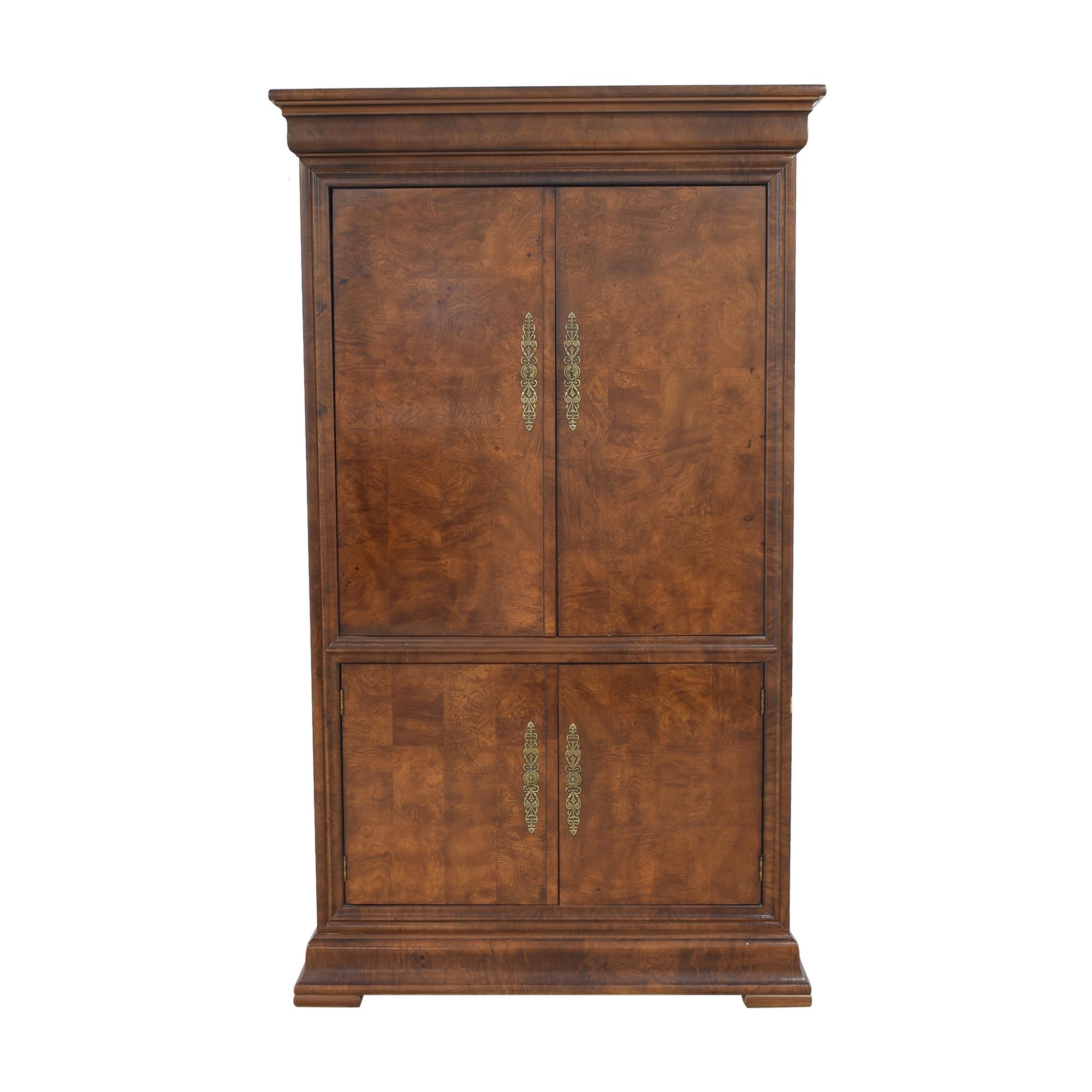 Henredon Furniture Henredon Charles X Burl Armoire discount