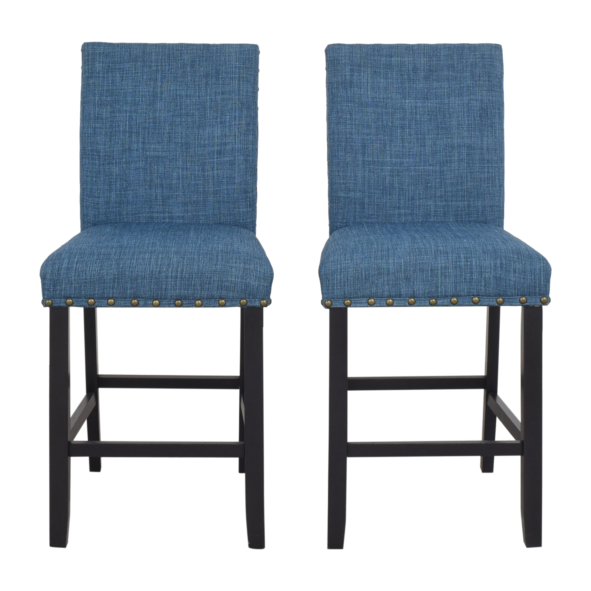 shop Overstock Biony Nailhead Counter Stools Overstock Chairs