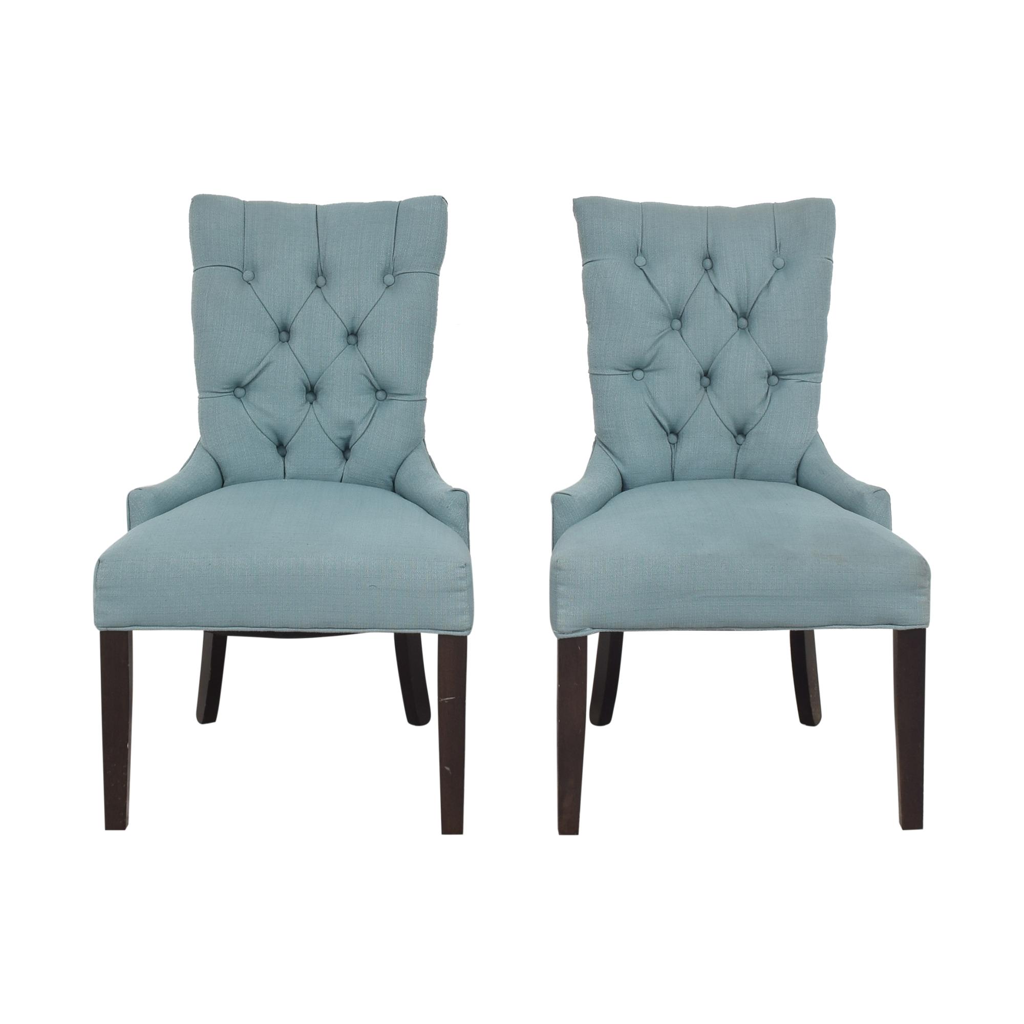 shop Safavieh Abby Tufted Nailhead Chairs Safavieh