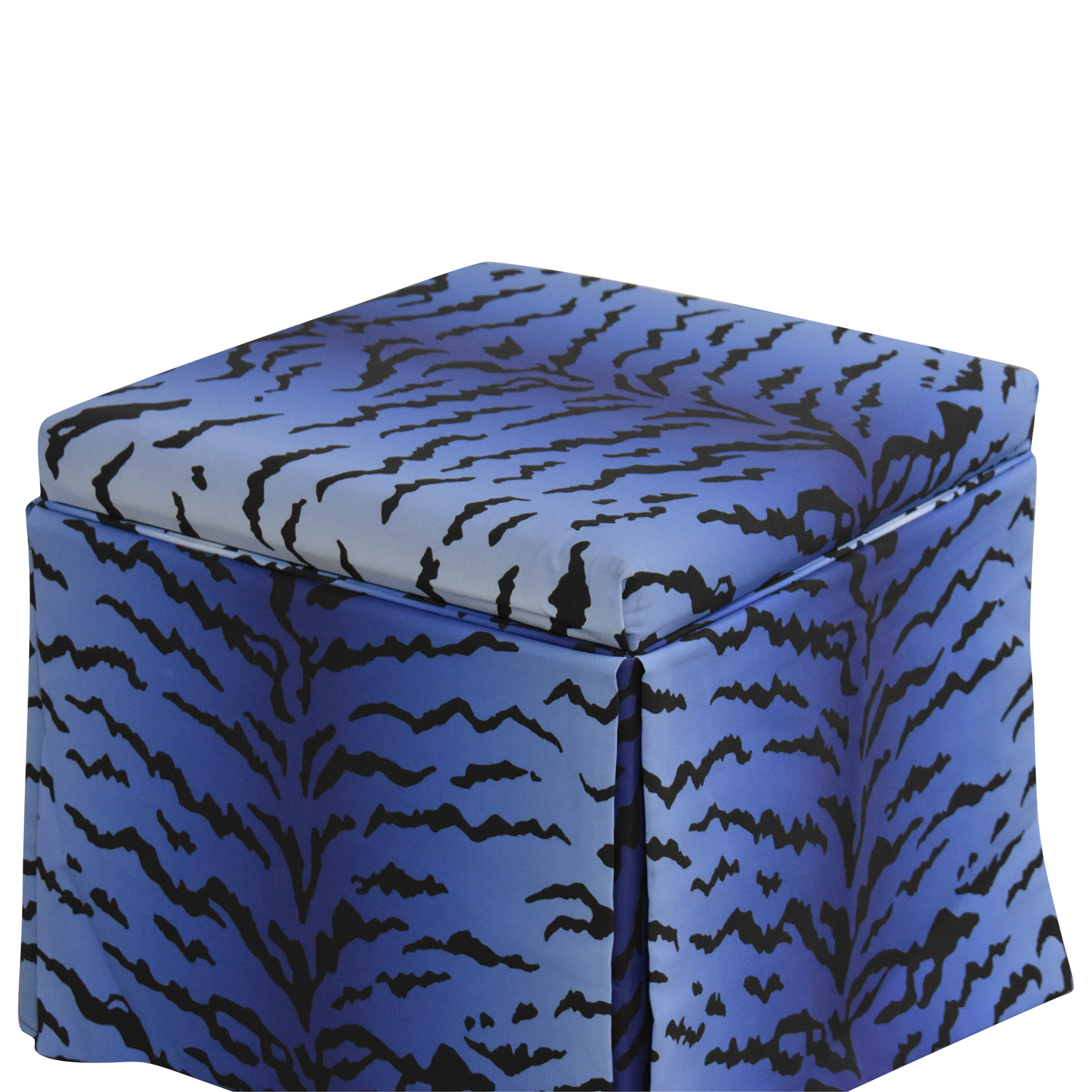 The Inside The Inside Royal Tiger Skirted Storage Ottoman nyc
