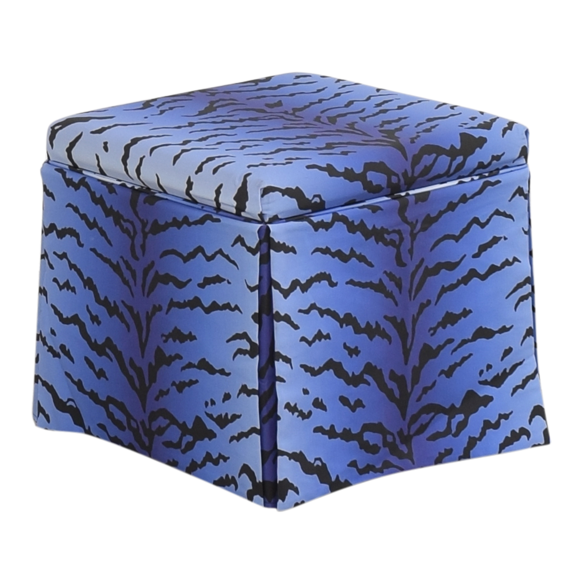 buy The Inside Royal Tiger Skirted Storage Ottoman The Inside