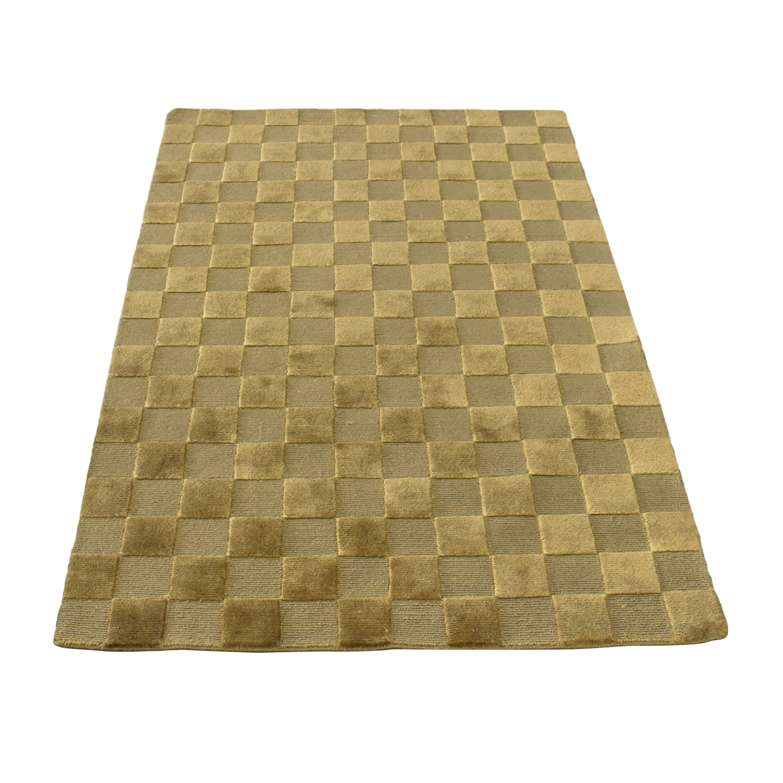 Checker Pattern Area Rug  dimensions
