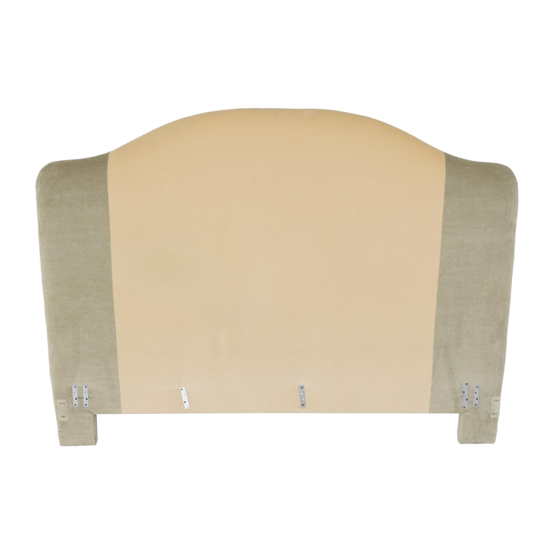 Custom Camelback Upholstered Headboard second hand