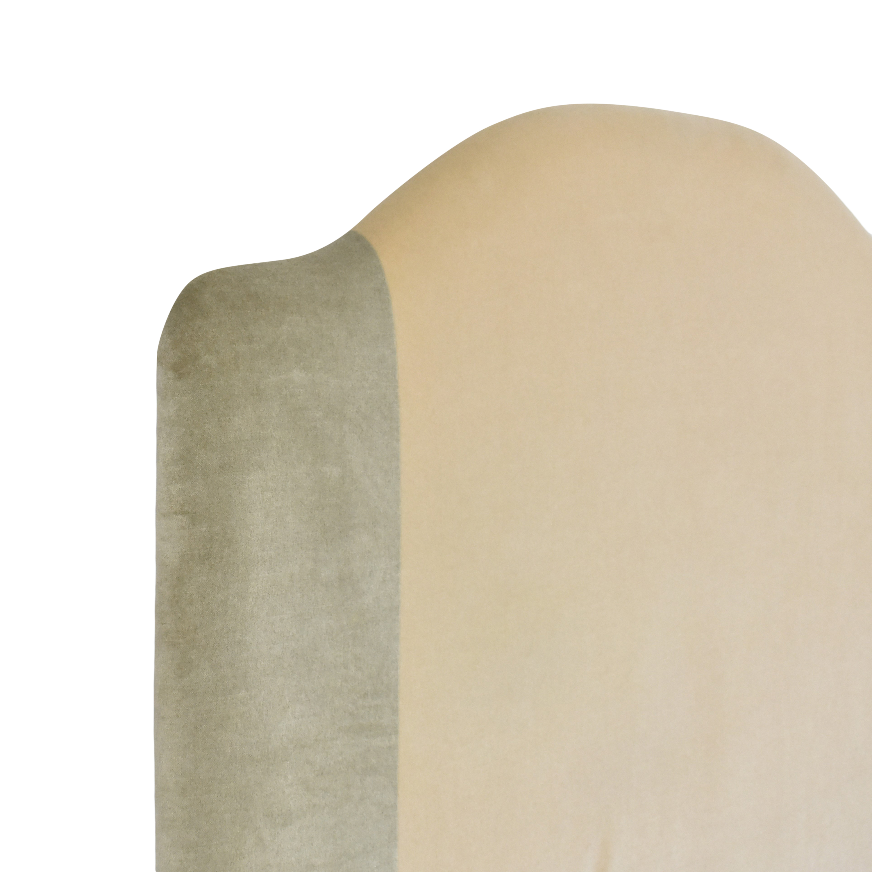 Custom Camelback Upholstered Headboard dimensions