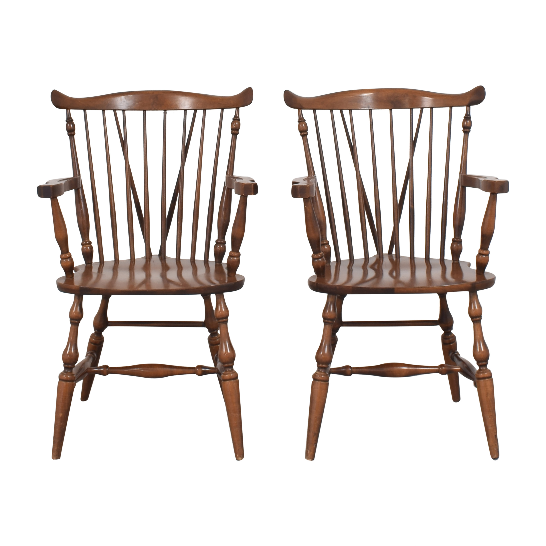 Moosehead Moosehead Windsor Dining Arm Chairs second hand