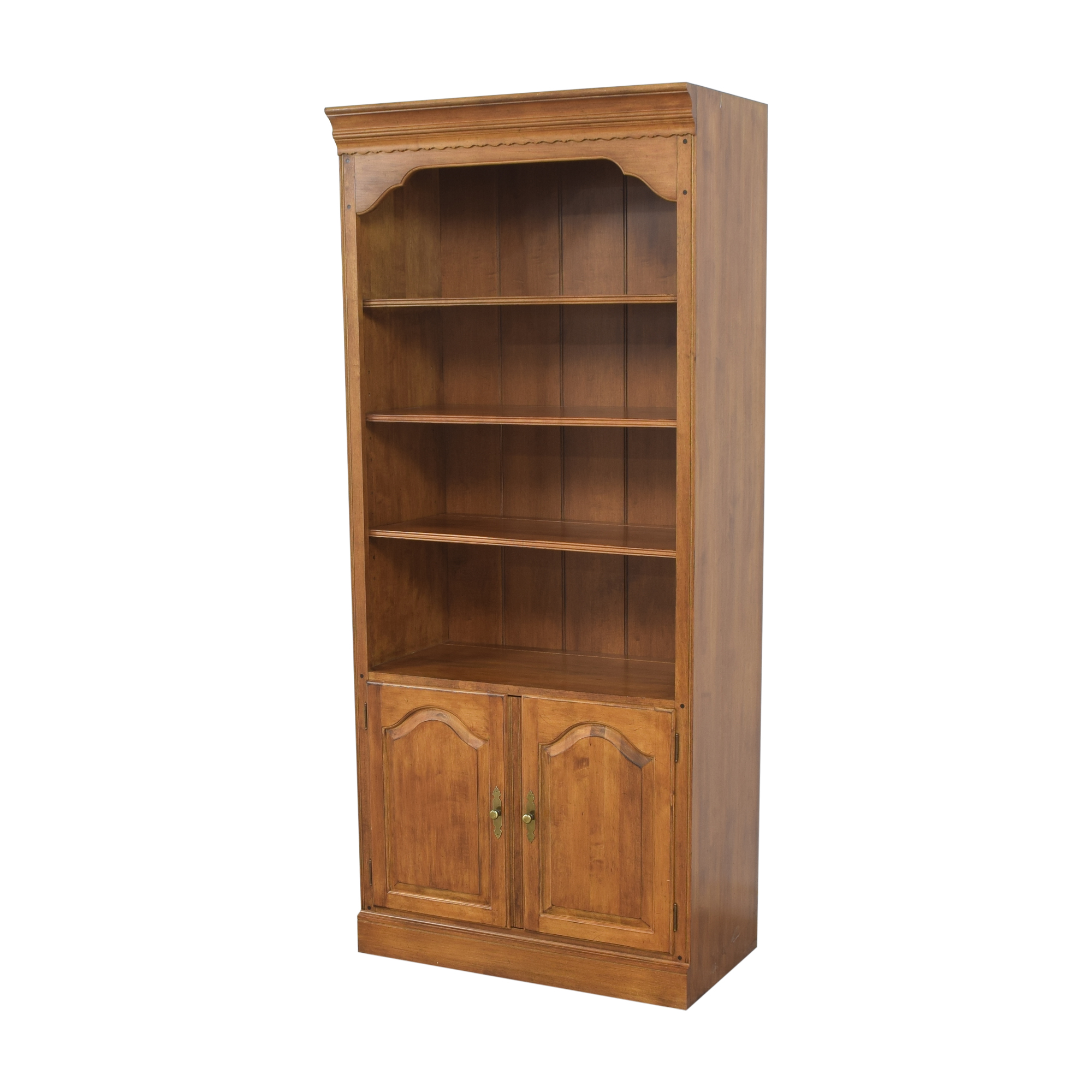 buy Ethan Allen Circa 1776 Collection Bookcase with Cabinet Ethan Allen Storage