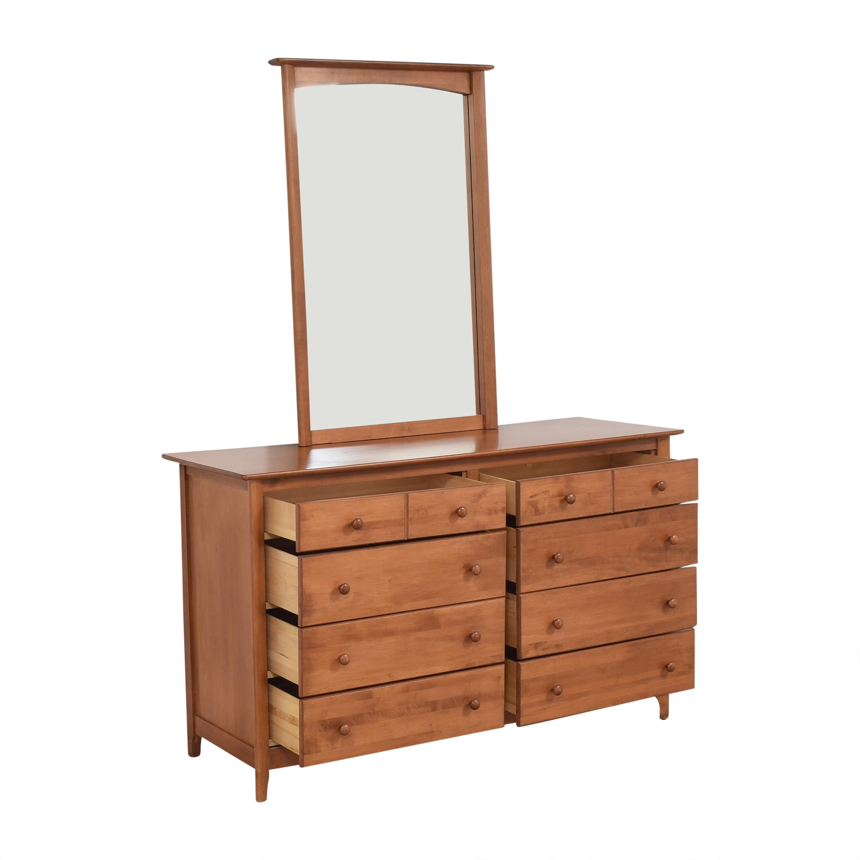 shop Nadeau Nadeau Double Dresser with Mirror online