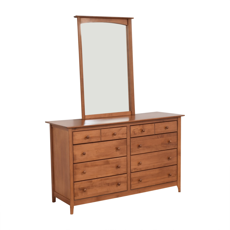 shop Nadeau Double Dresser with Mirror Nadeau Storage