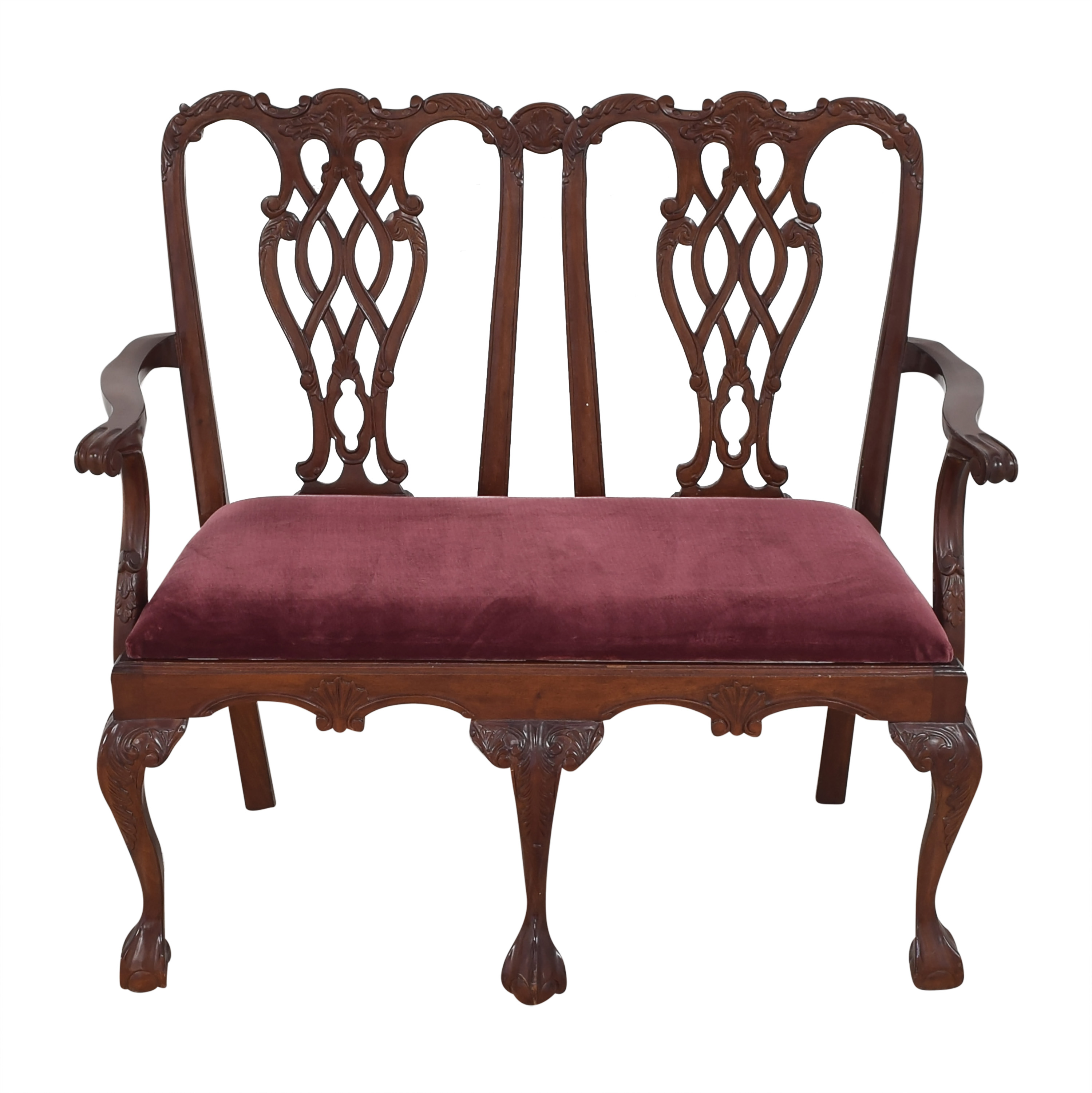 Chippendale Ball and Claw Settee / Chairs