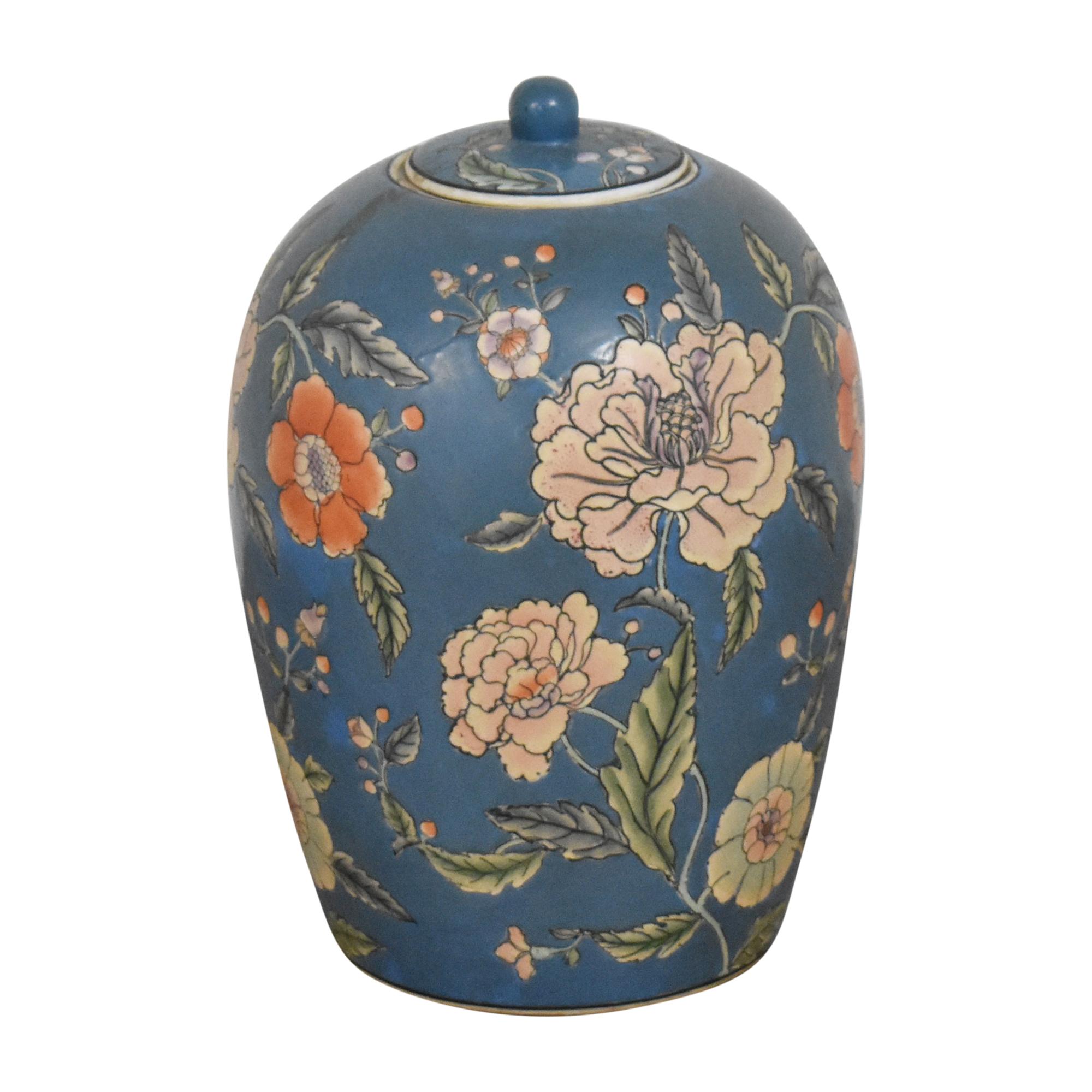 Large Decorative Floral Urn ct