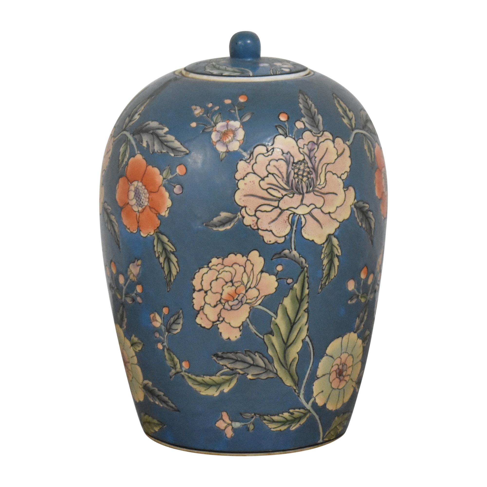 Large Decorative Floral Urn / Decorative Accents