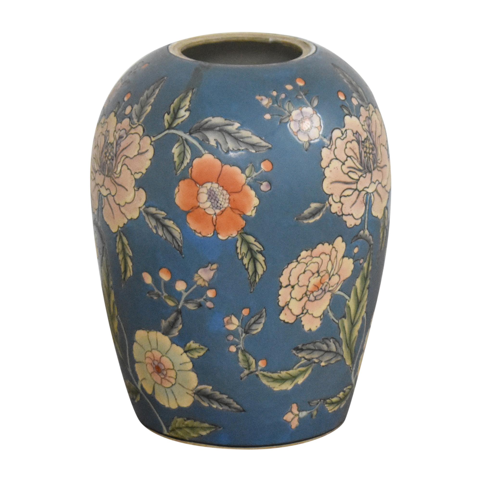 shop Large Decorative Floral Urn  Decor
