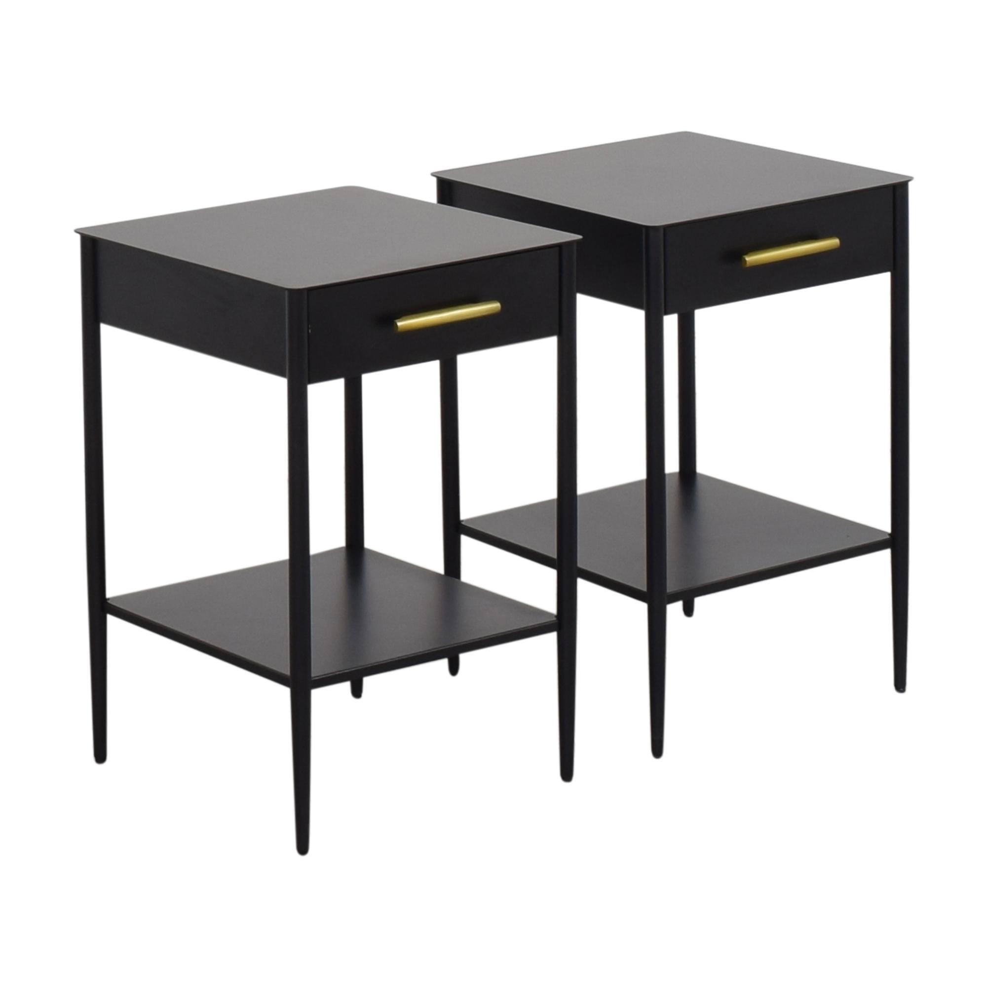 buy West Elm Metalwork Nightstands West Elm Tables