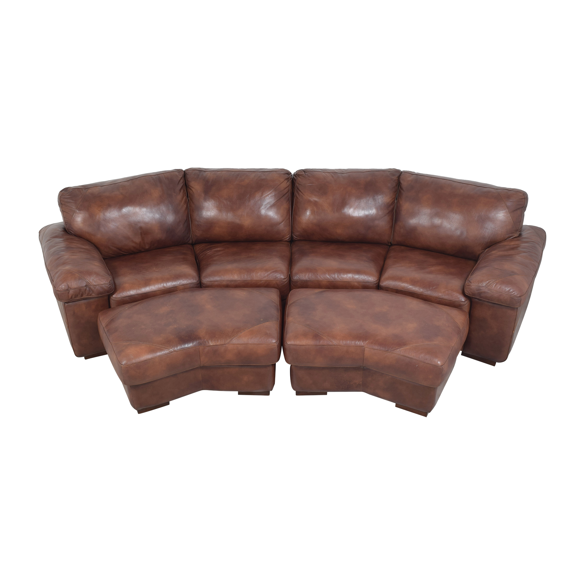 Bassett Two Piece Sectional Sofa with Ottomans / Sectionals