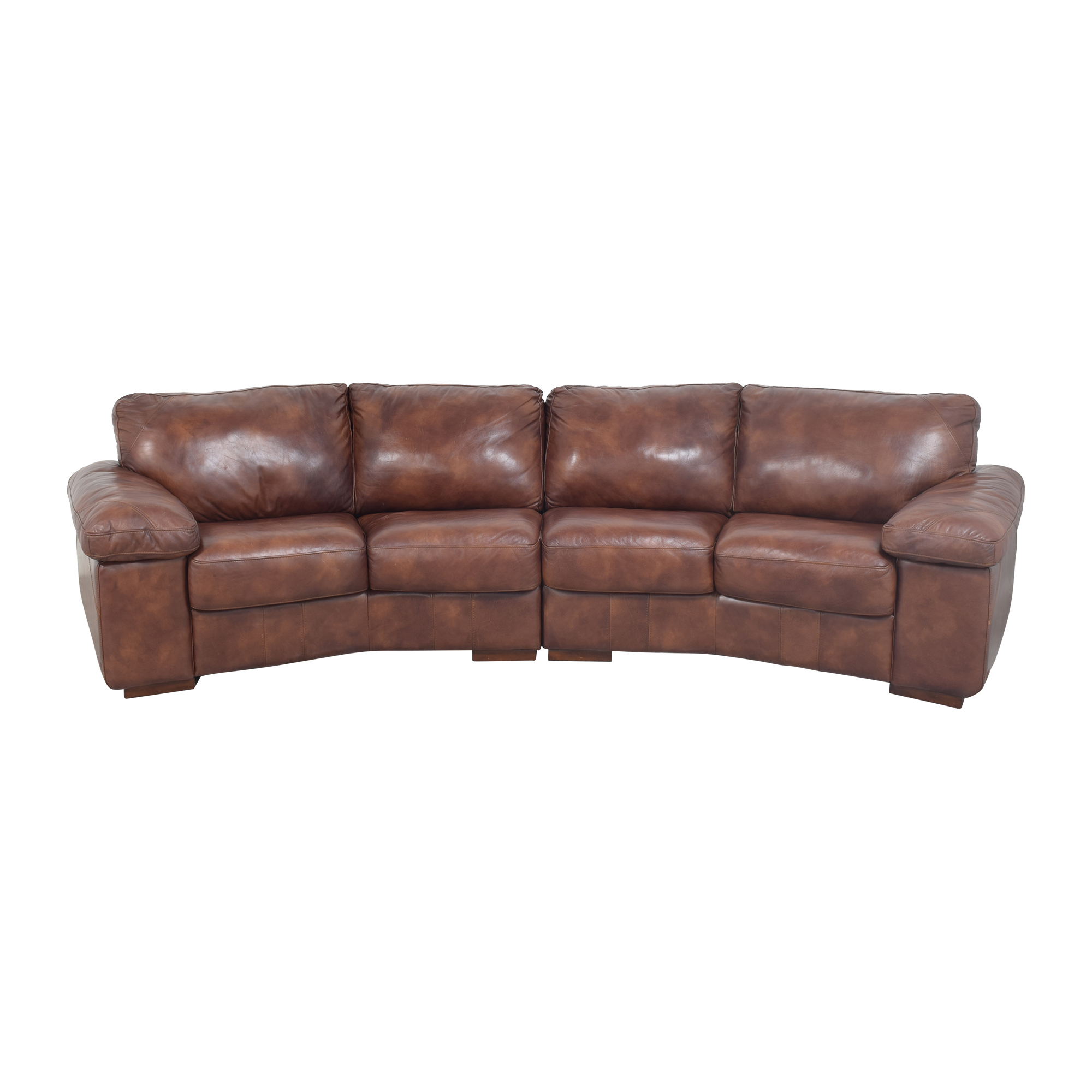 Bassett Furniture Bassett Two Piece Sectional Sofa with Ottomans dimensions