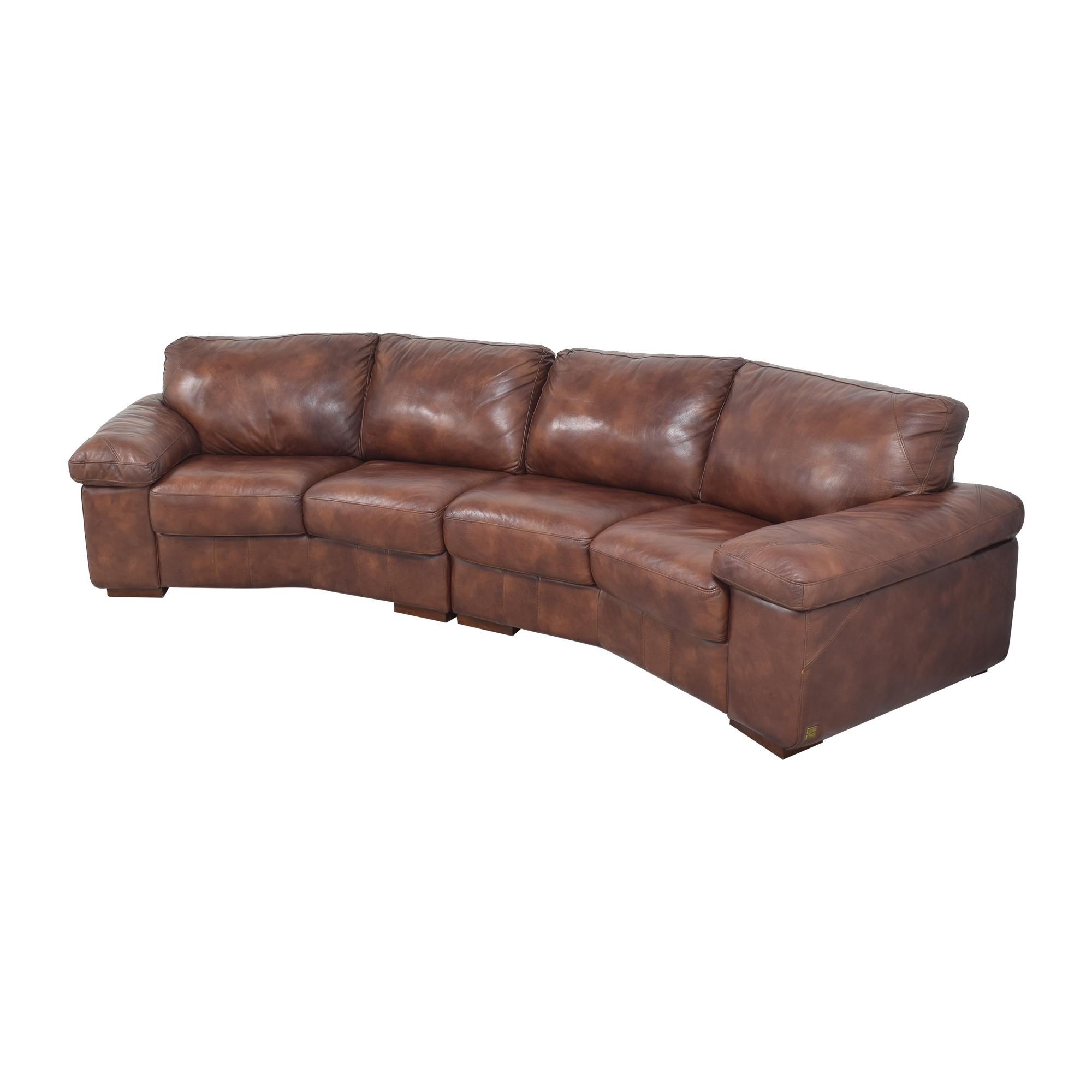 Bassett Furniture Bassett Two Piece Sectional Sofa with Ottomans discount