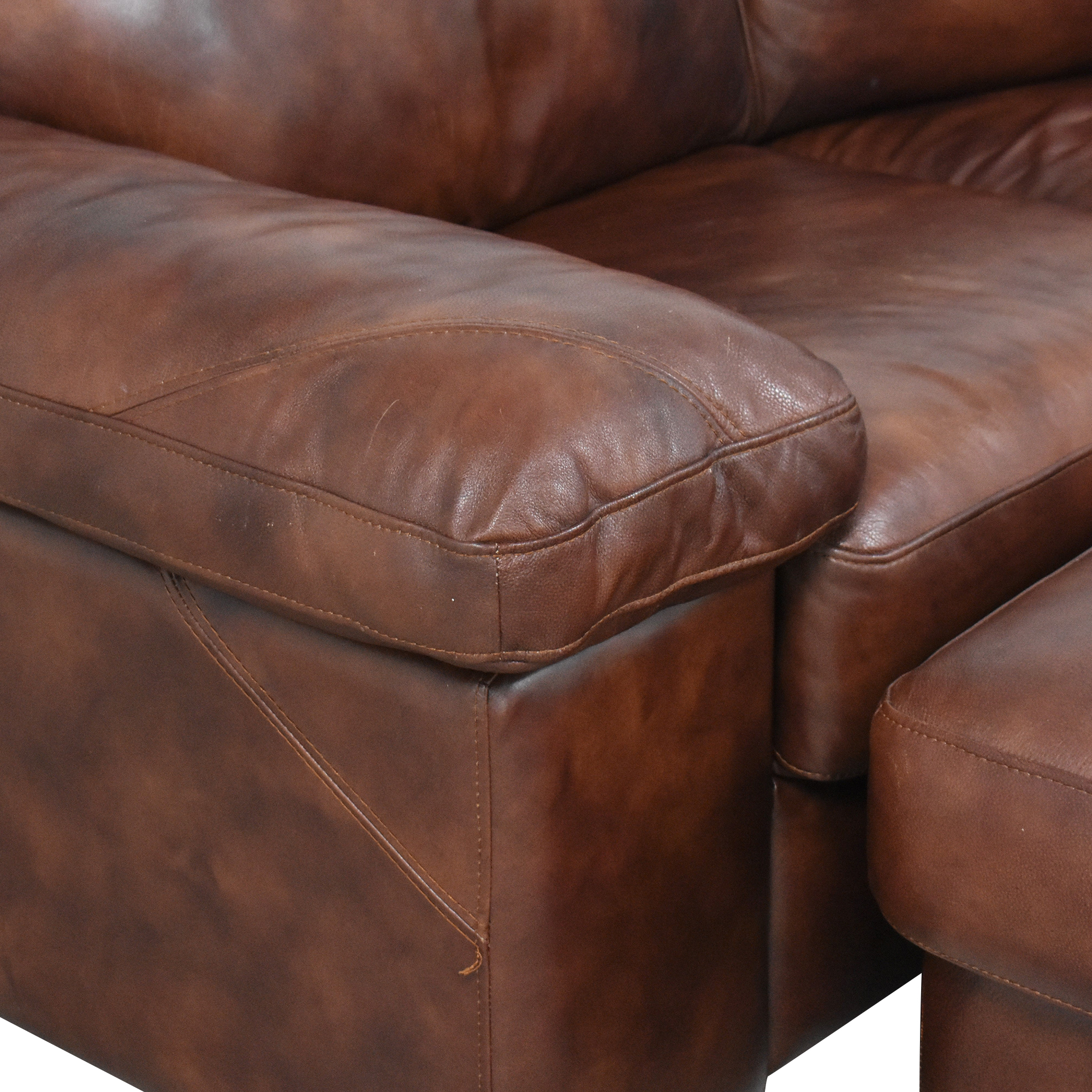 shop Bassett Two Piece Sectional Sofa with Ottomans Bassett Furniture