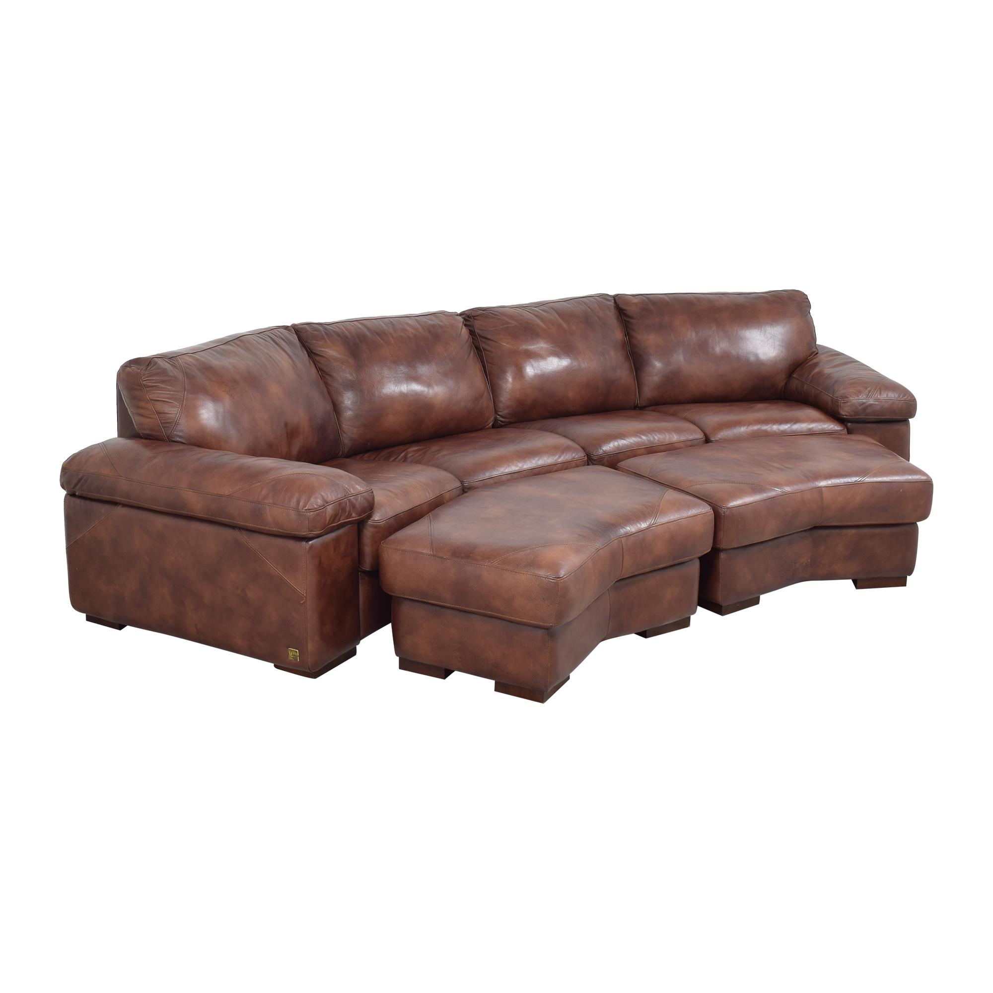 Bassett Furniture Bassett Two Piece Sectional Sofa with Ottomans nj