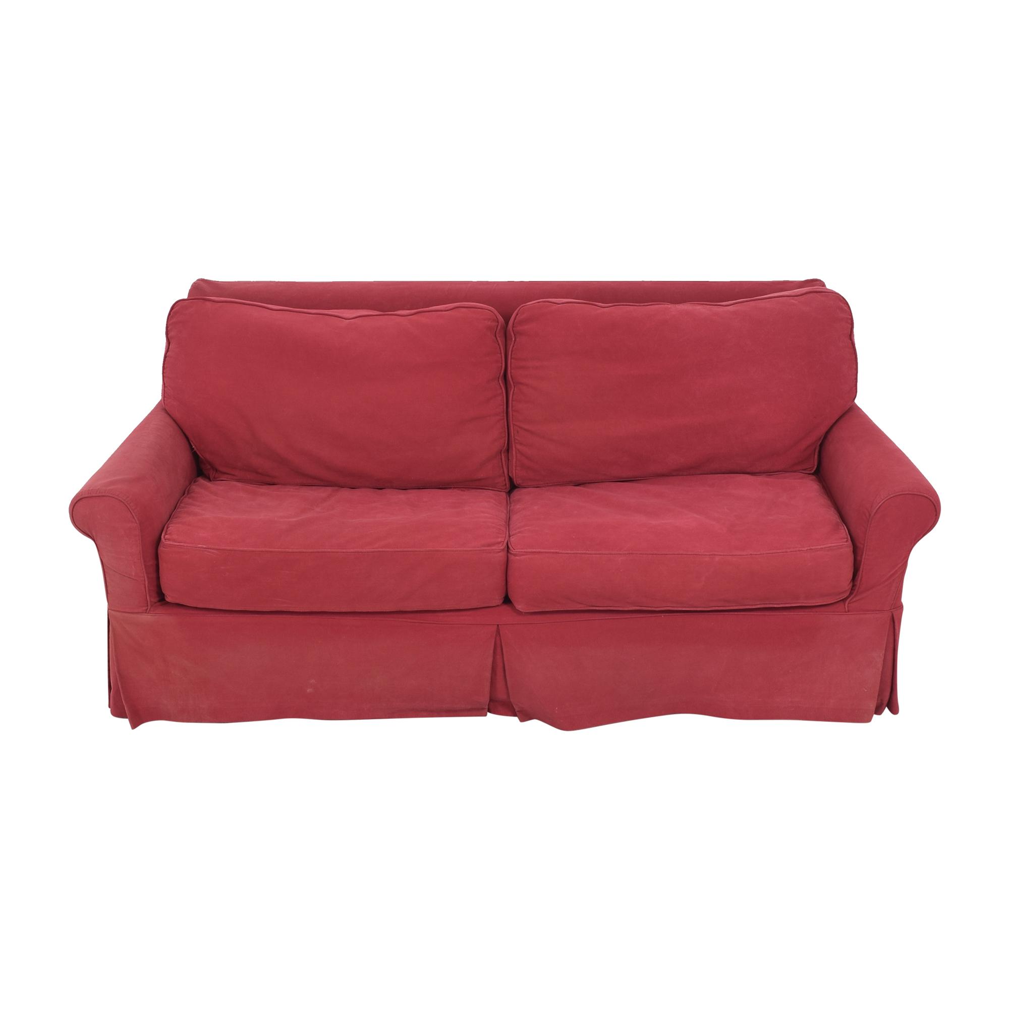 Crate & Barrel Roll Arm Slipcovered Sleeper Sofa / Sofas