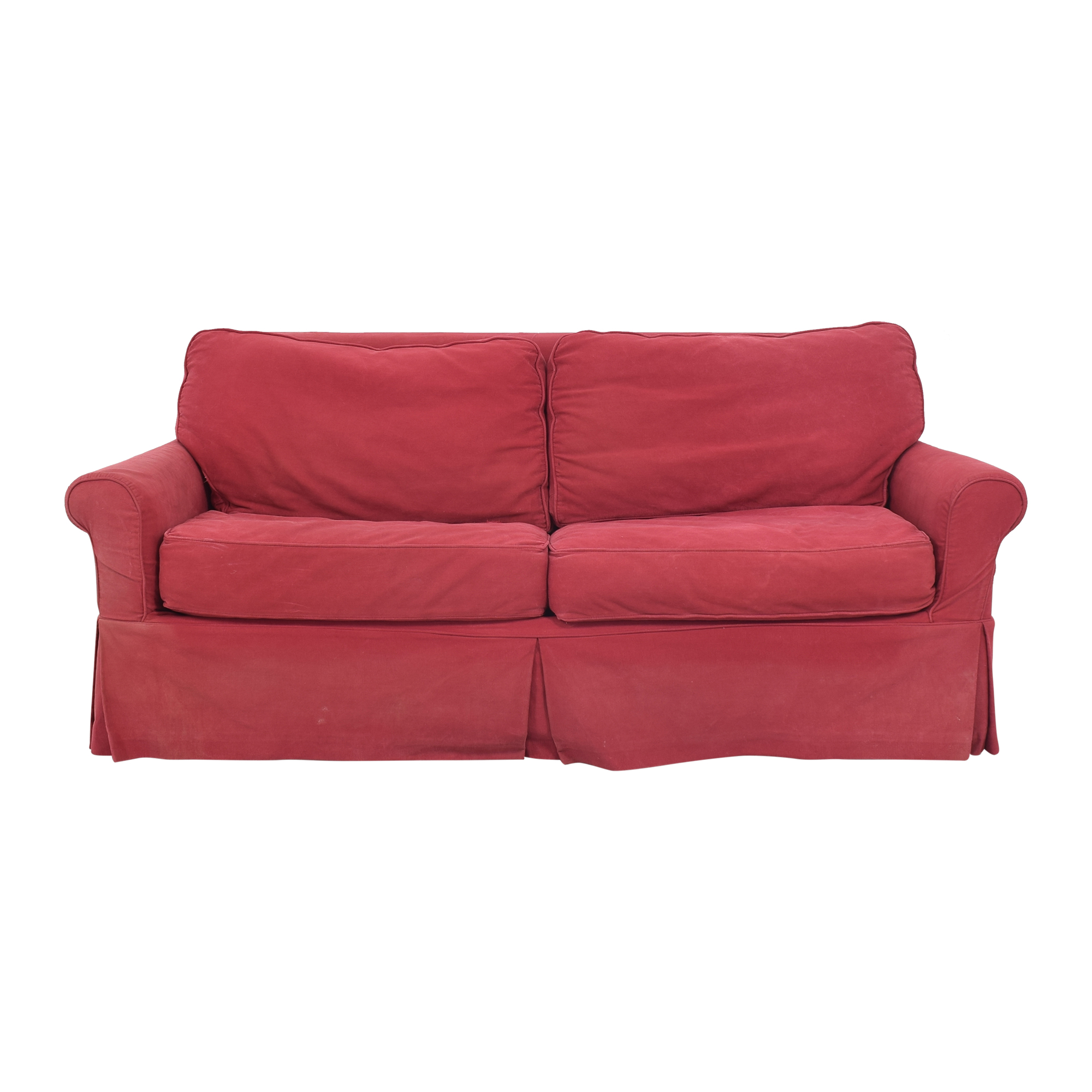 Crate & Barrel Crate & Barrel Roll Arm Slipcovered Sleeper Sofa coupon