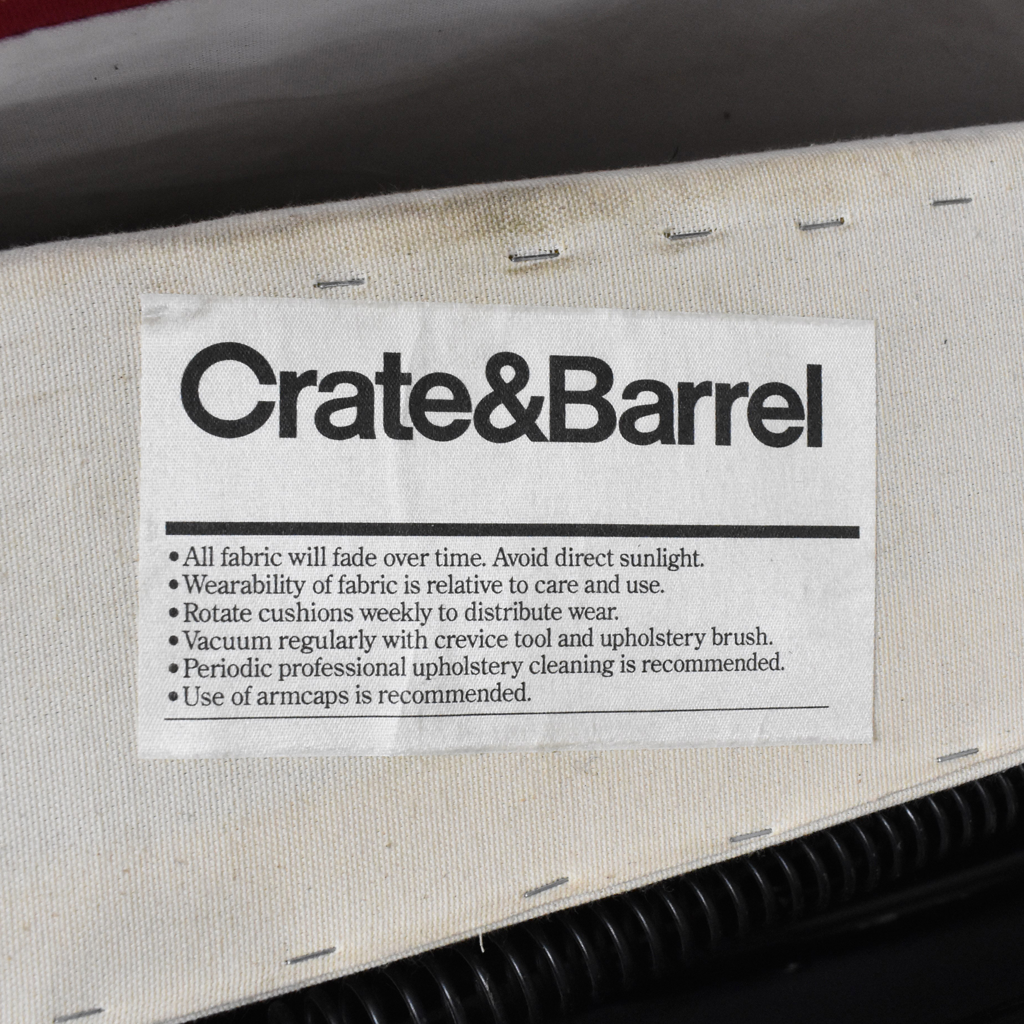 Crate & Barrel Crate & Barrel Roll Arm Slipcovered Sleeper Sofa Sofa Beds