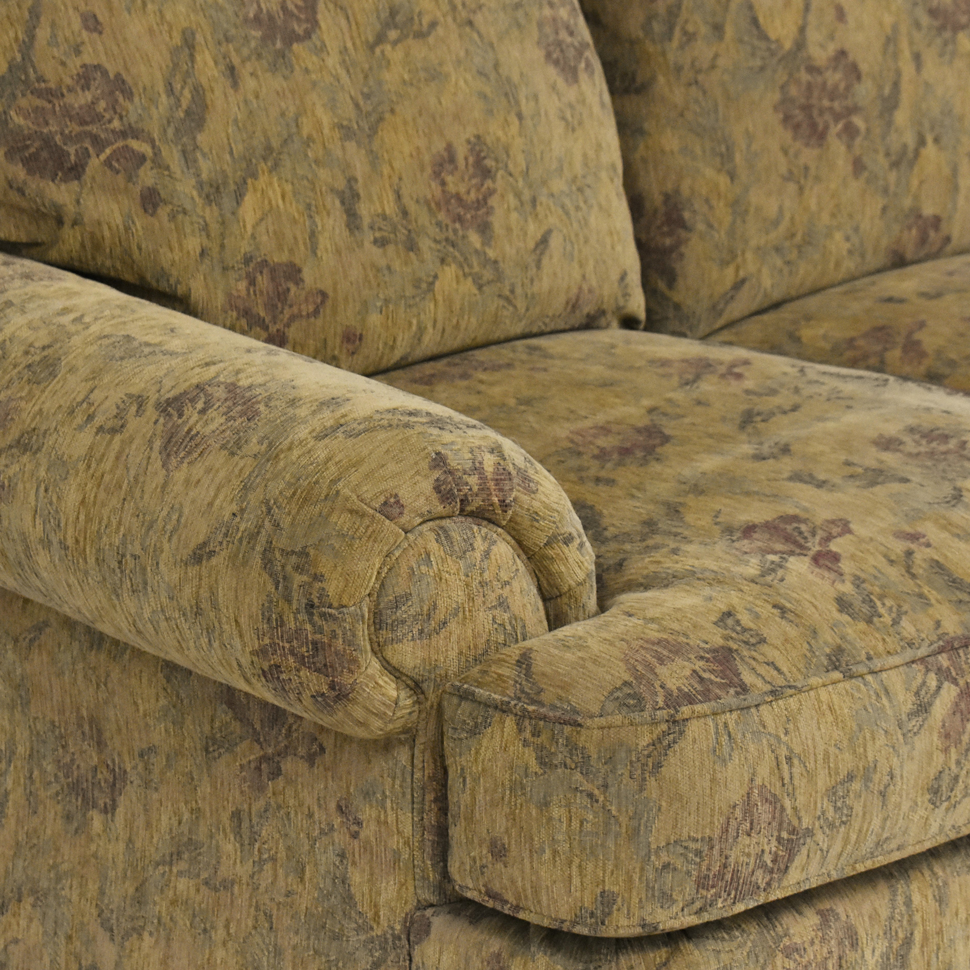 Thomasville Thomasville Floral Three Cushion Sofa for sale