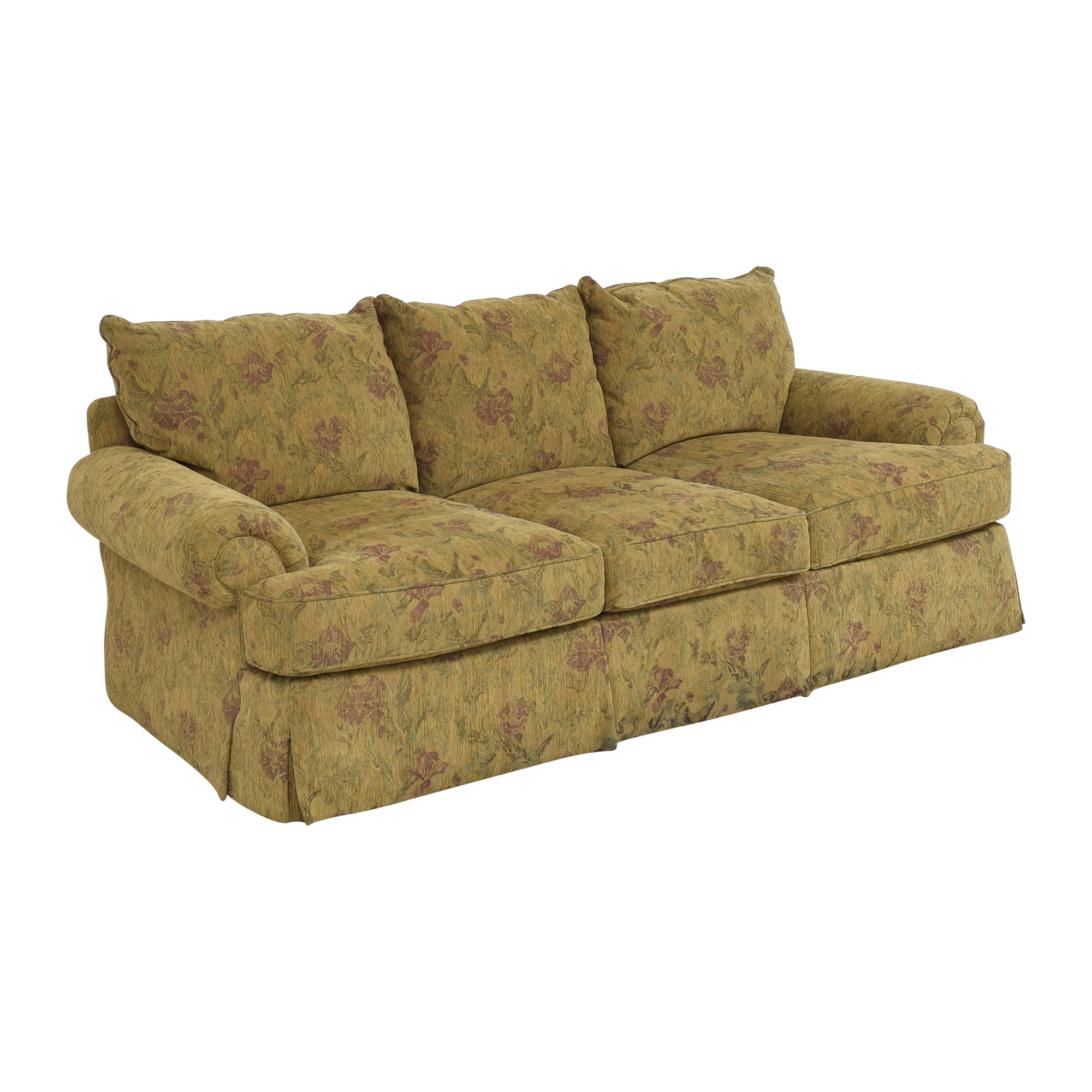 Thomasville Thomasville Floral Three Cushion Sofa used