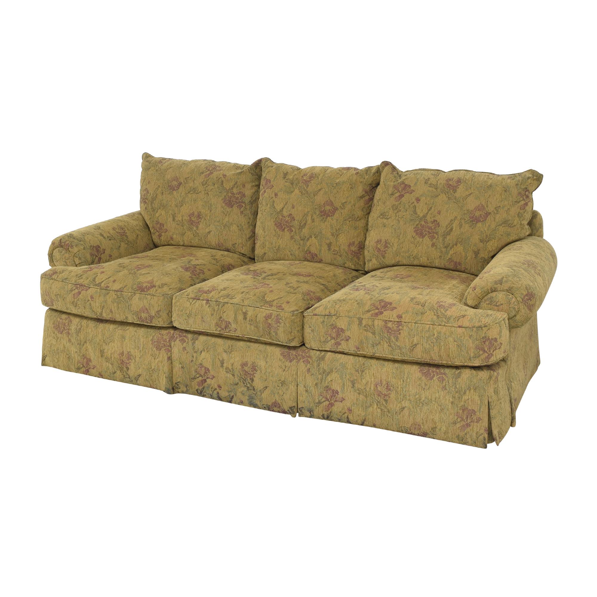 Thomasville Thomasville Floral Three Cushion Sofa Classic Sofas