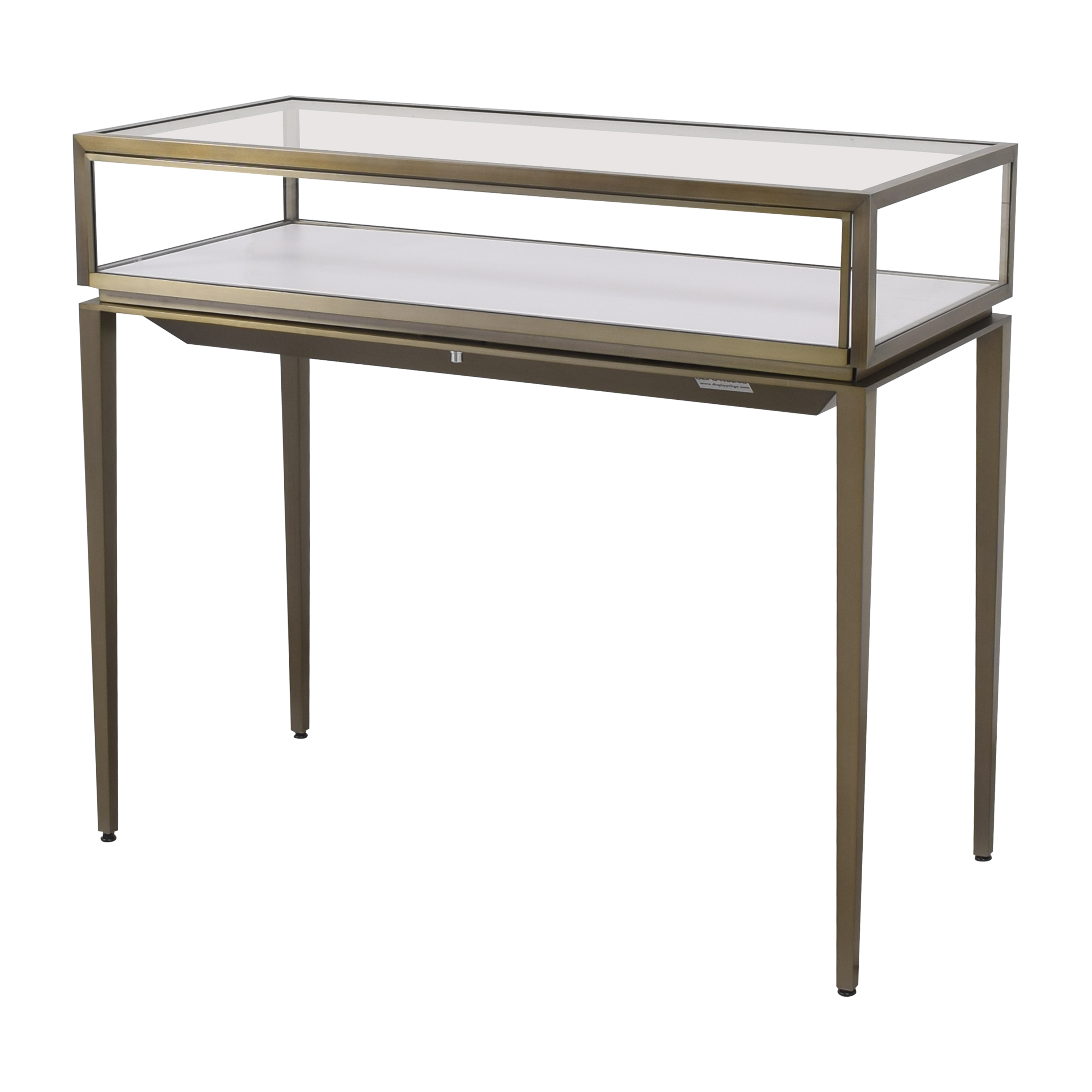 Displays2Go Displays2Go Lighted Display Table dark gold