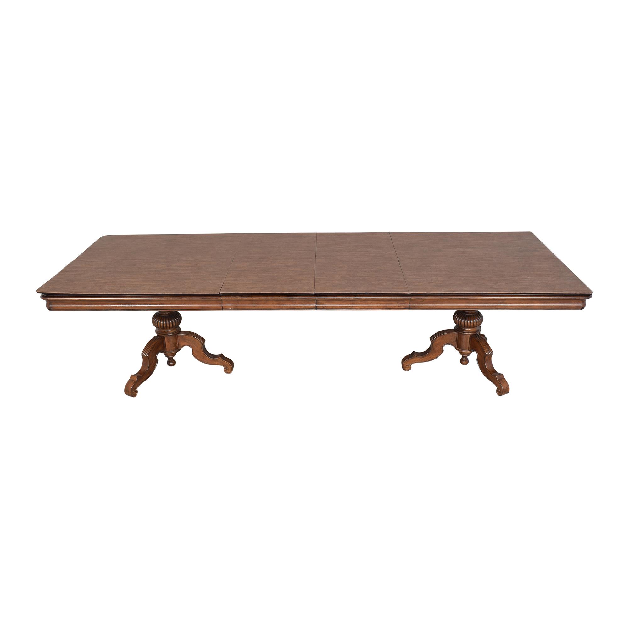 Thomasville Thomasville Ernest Hemingway Castillian Double Pedestal Dining Table ma
