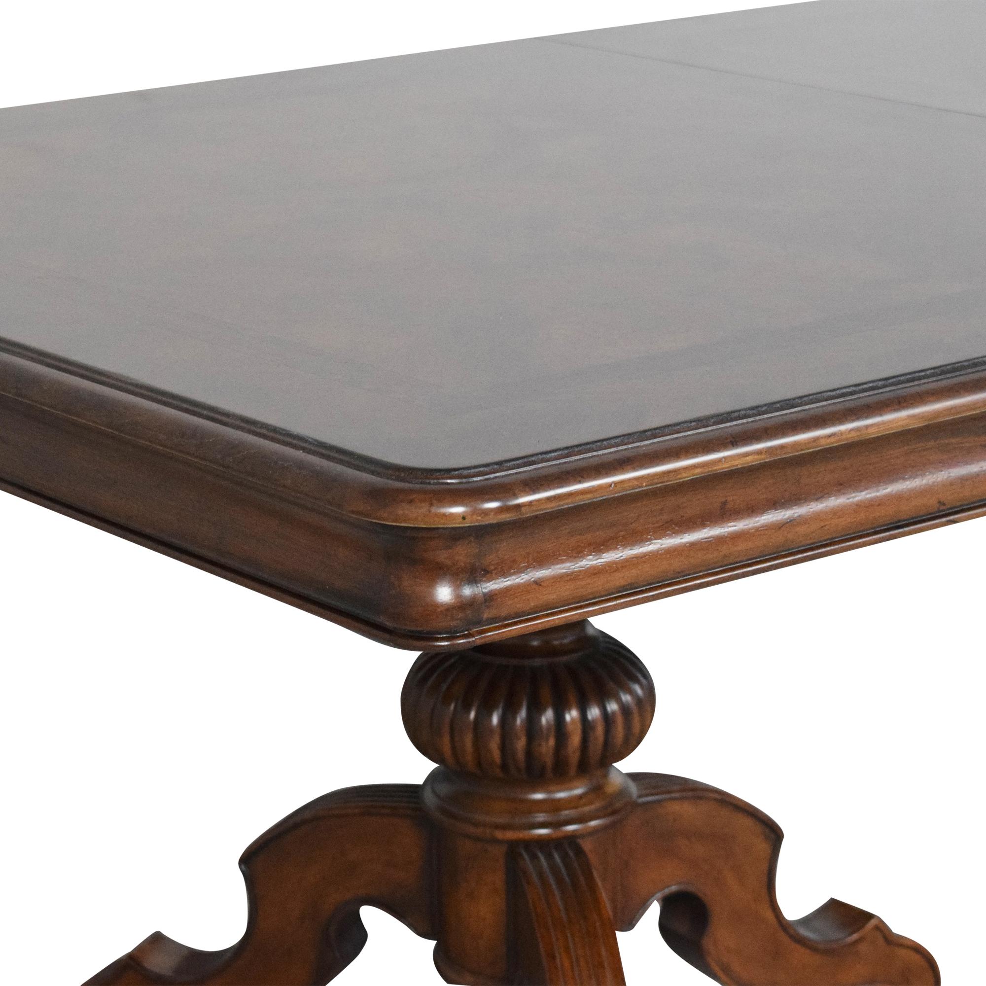 Thomasville Thomasville Ernest Hemingway Castillian Double Pedestal Dining Table Dinner Tables