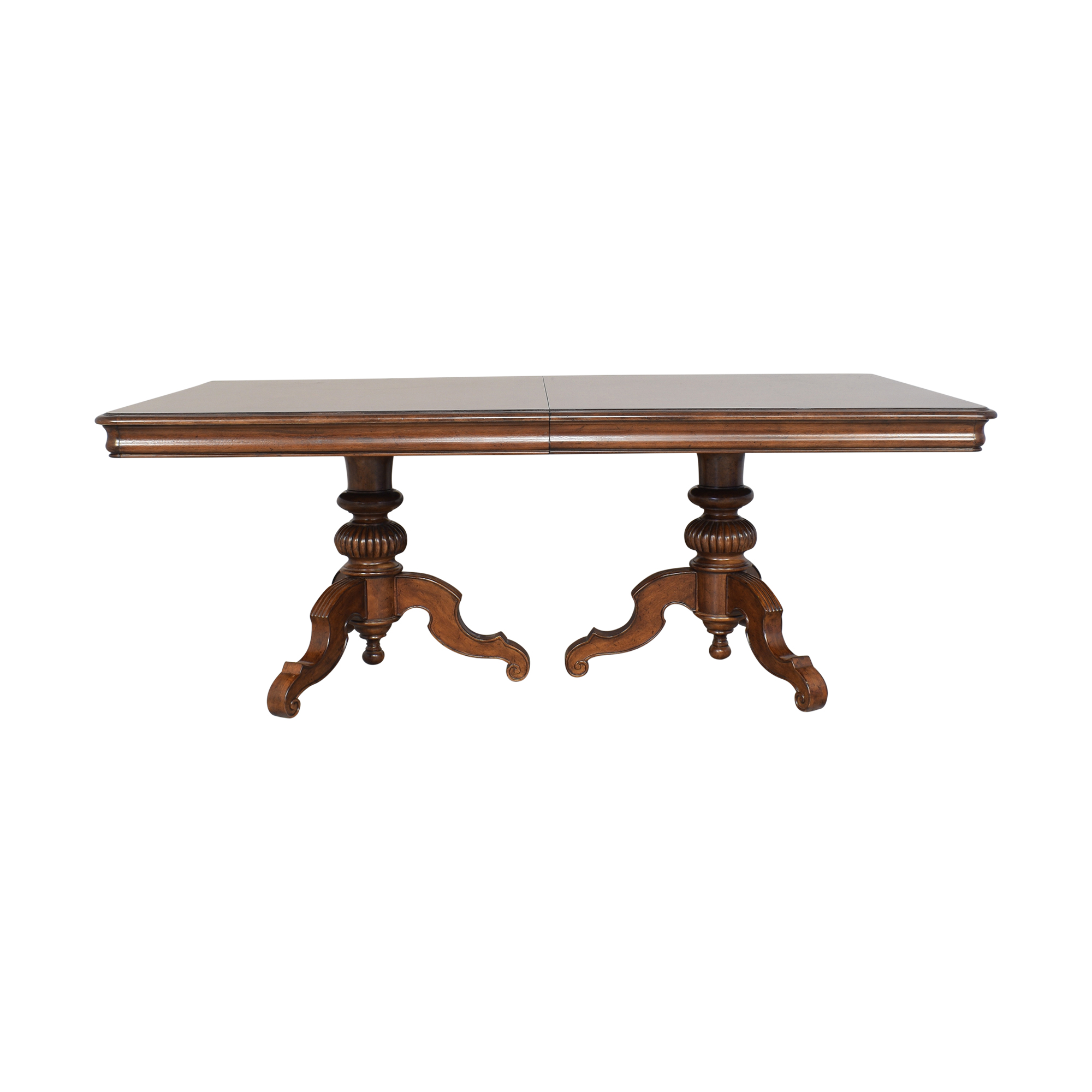 shop Thomasville Ernest Hemingway Castillian Double Pedestal Dining Table Thomasville Tables