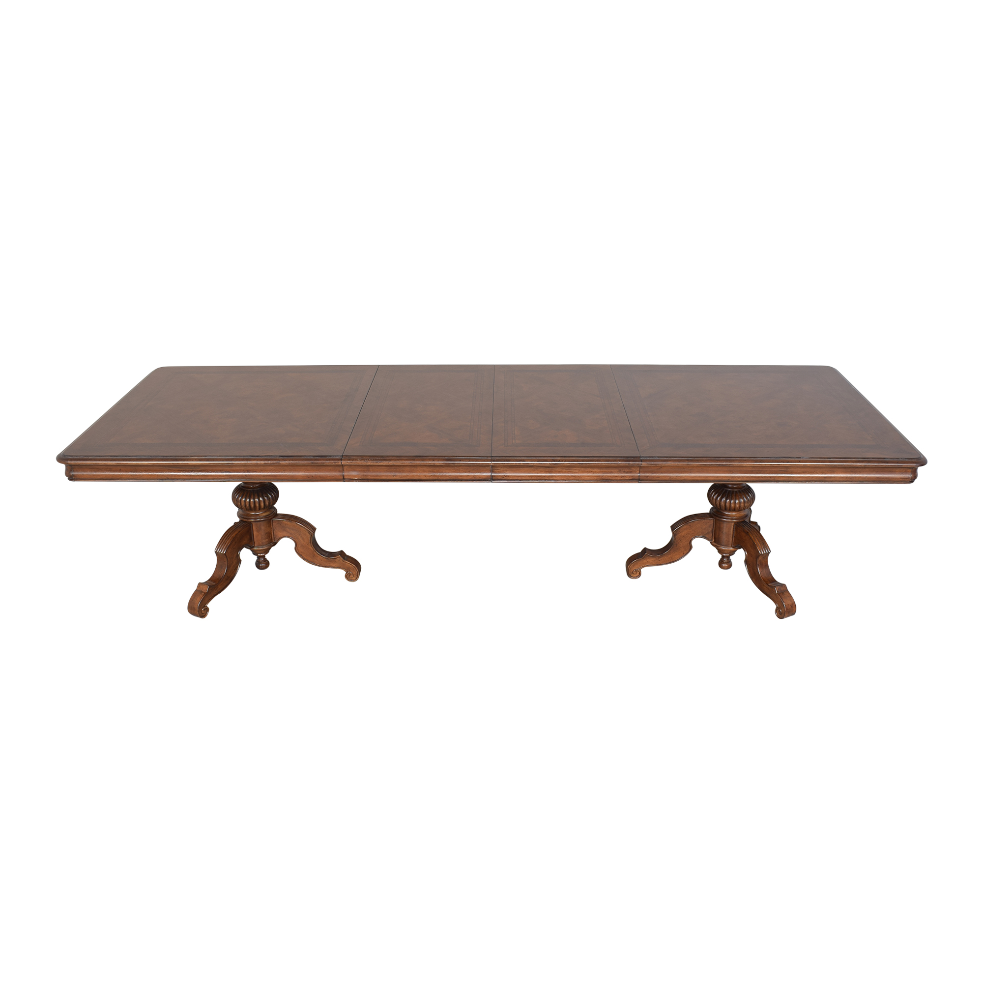buy Thomasville Ernest Hemingway Castillian Double Pedestal Dining Table Thomasville Tables