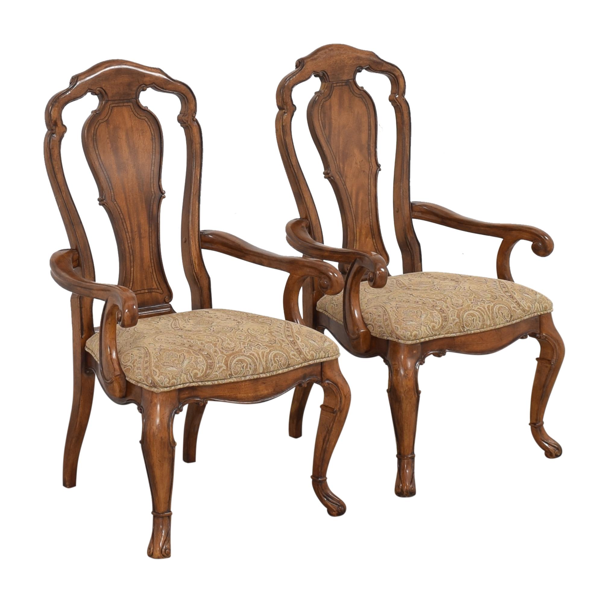 shop Thomasville Ernest Hemingway Granada Dining Arm Chairs Thomasville Dining Chairs
