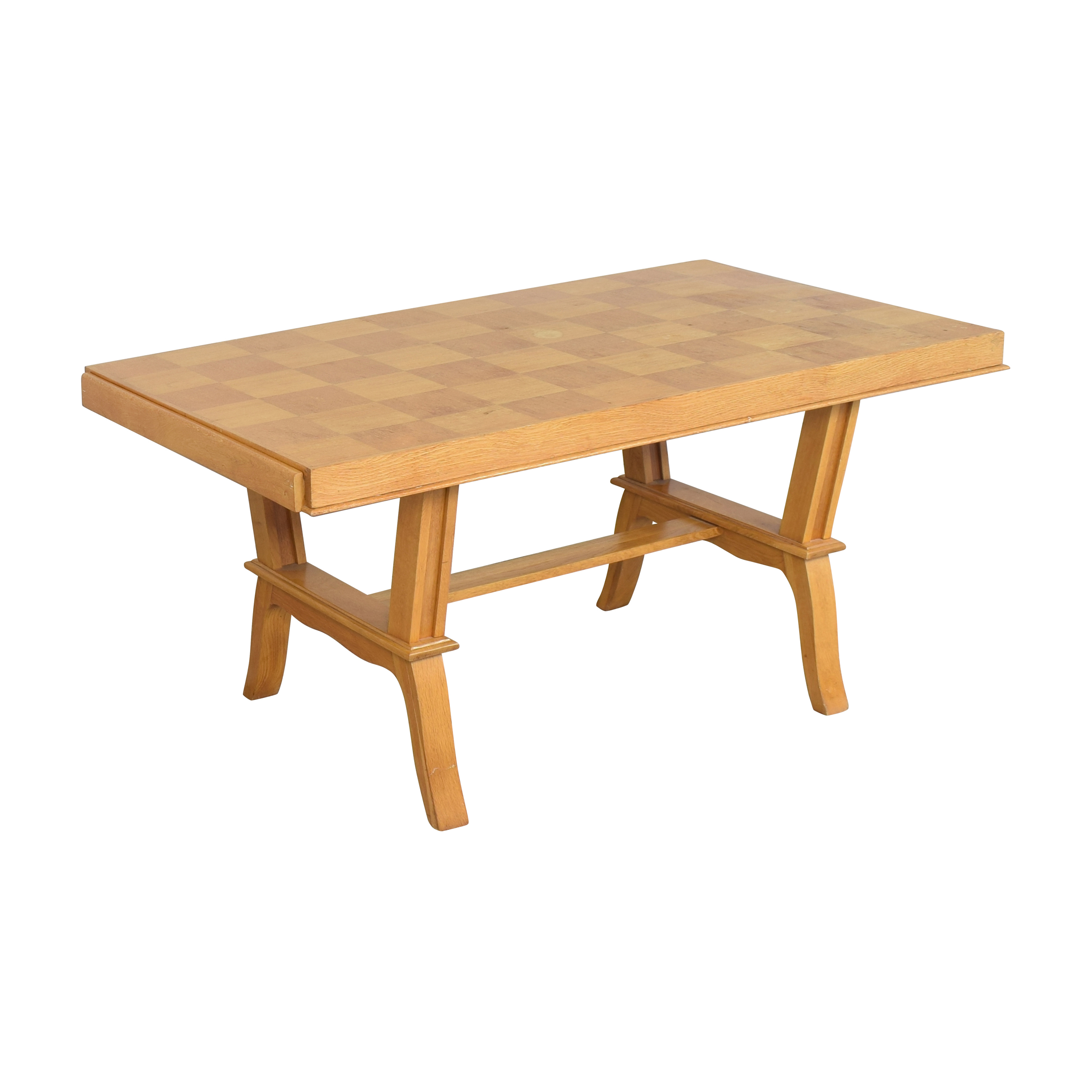 French Parquet Extendable Dining Table