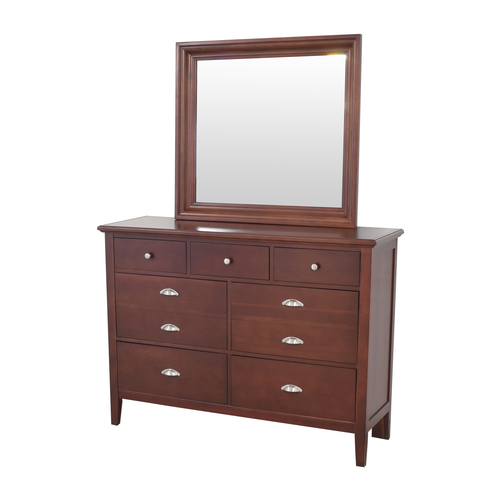 Vaughan-Bassett Twilight Triple Dresser with Mirror / Storage