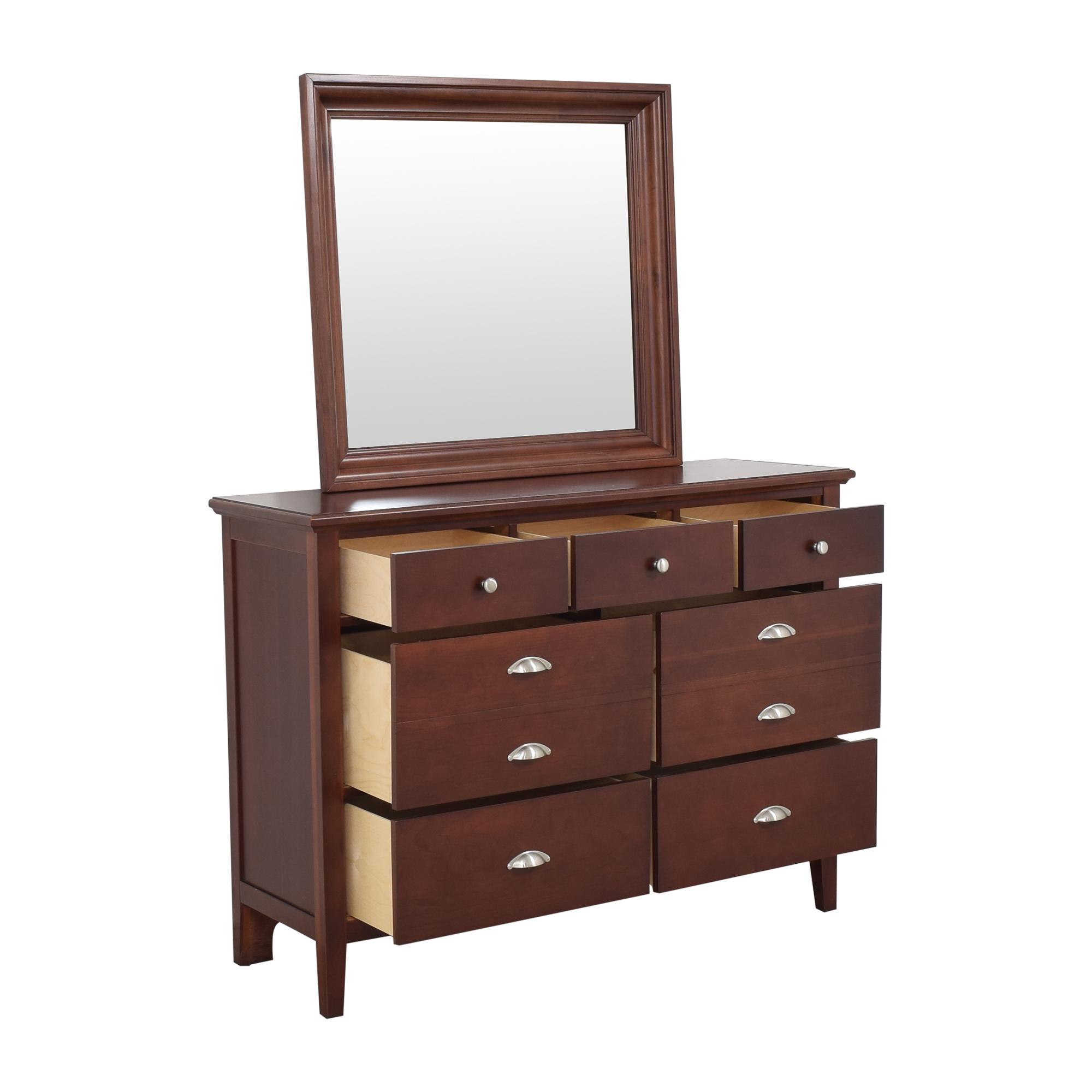 buy Vaughan-Bassett Twilight Triple Dresser with Mirror Vaughan-Bassett