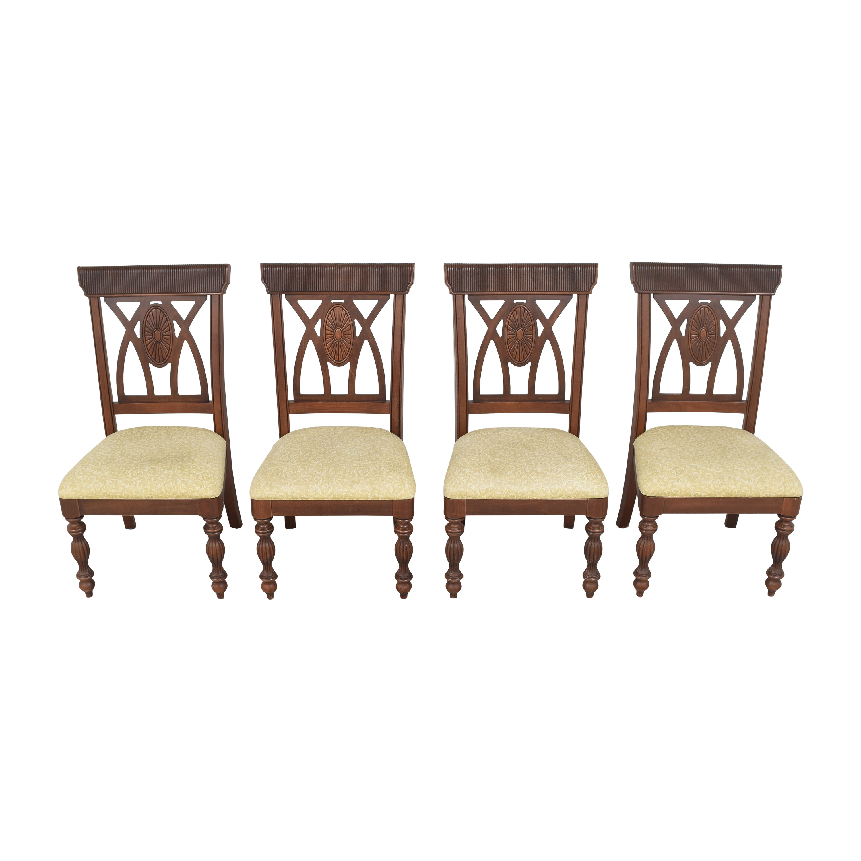 Upholstered Carved Dining Chairs dimensions