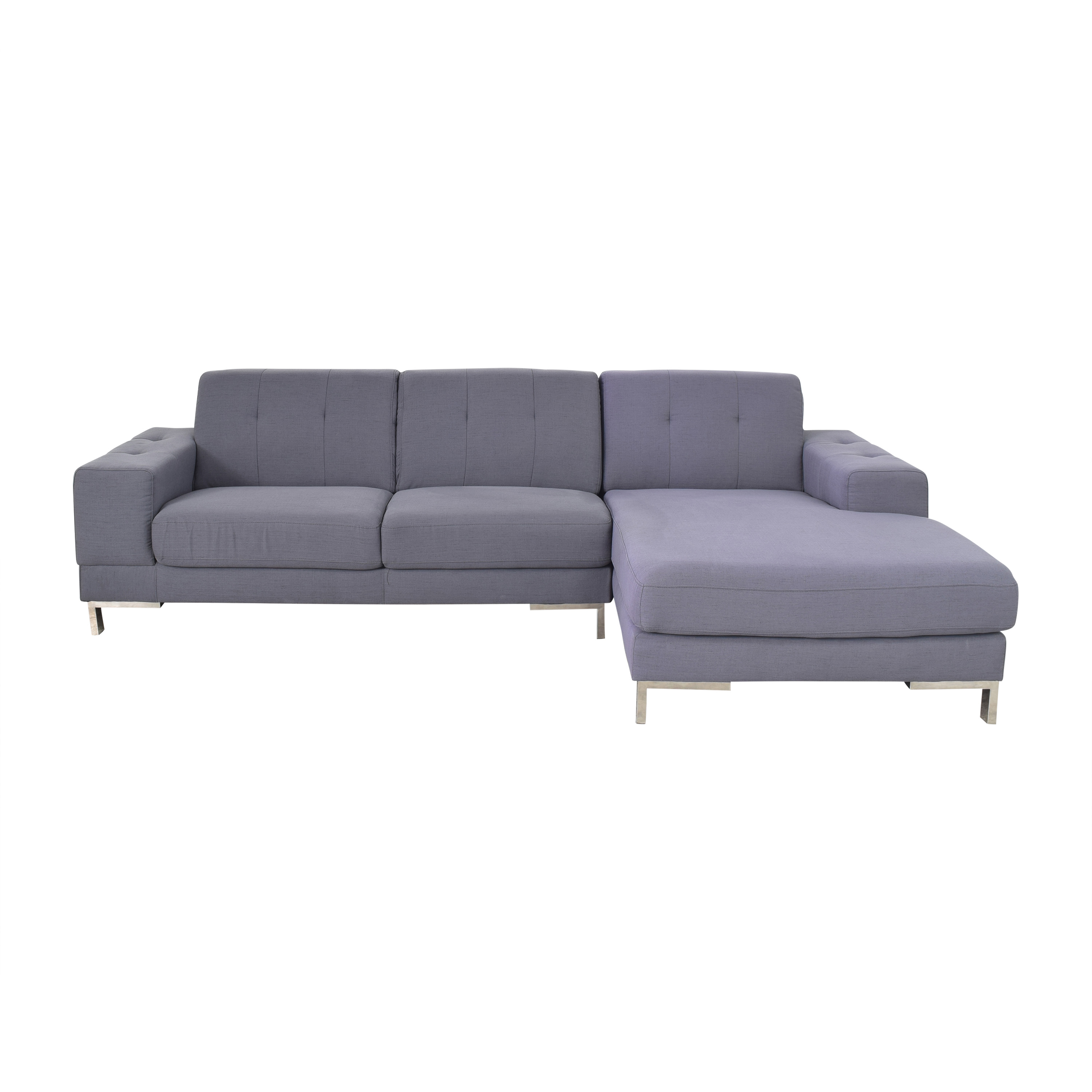 Overstock Overstock Halsted Tufted Chaise Sectional Sofa used