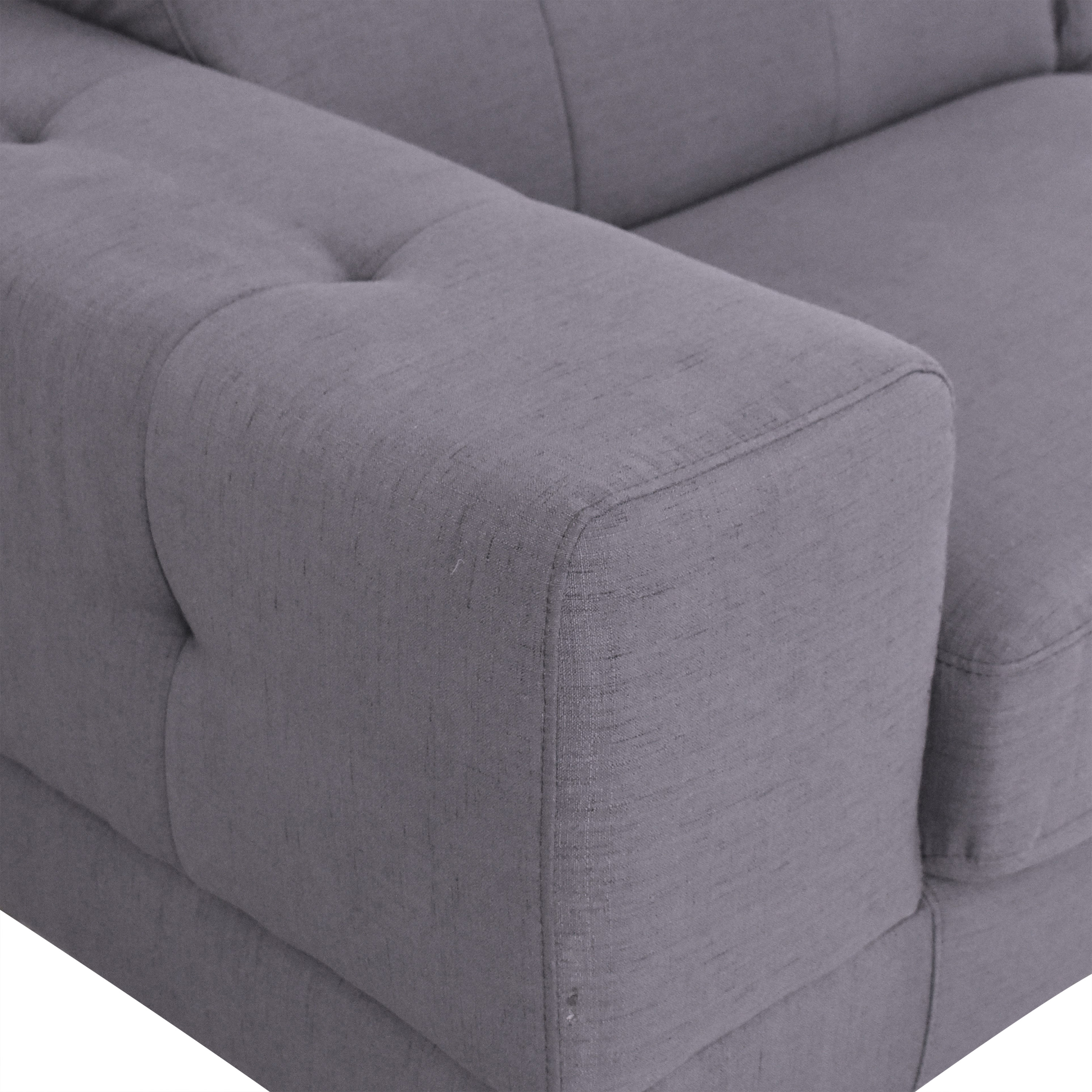 Overstock Halsted Tufted Chaise Sectional Sofa Overstock